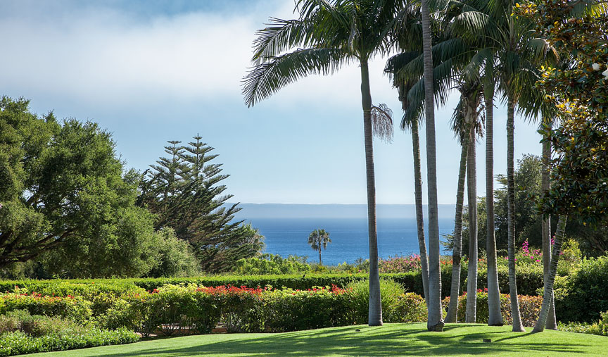The serene ocean view from this Hope Ranch property in Santa Barbara
