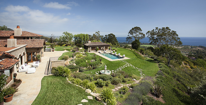 Ocean view Mediterranean estate in montecito, ca