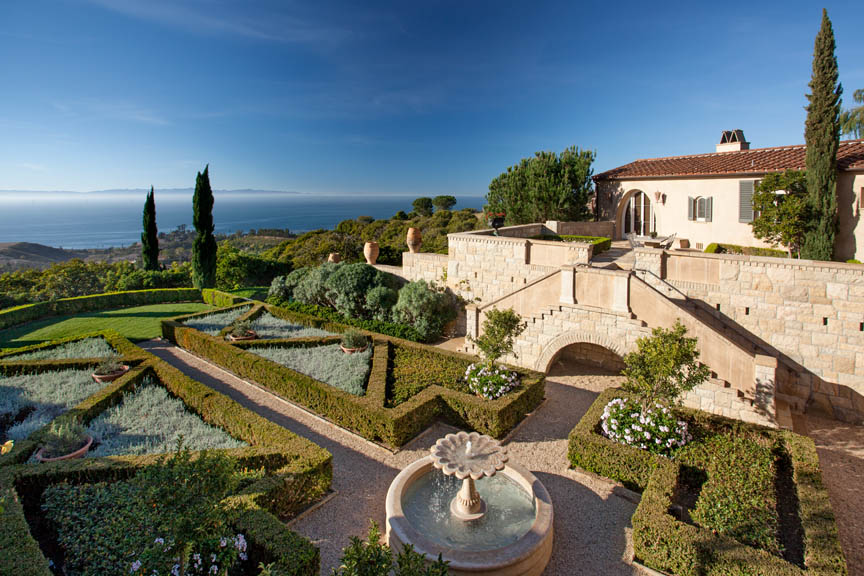 villa di serenita, california italian villa, luxury ocean view estate
