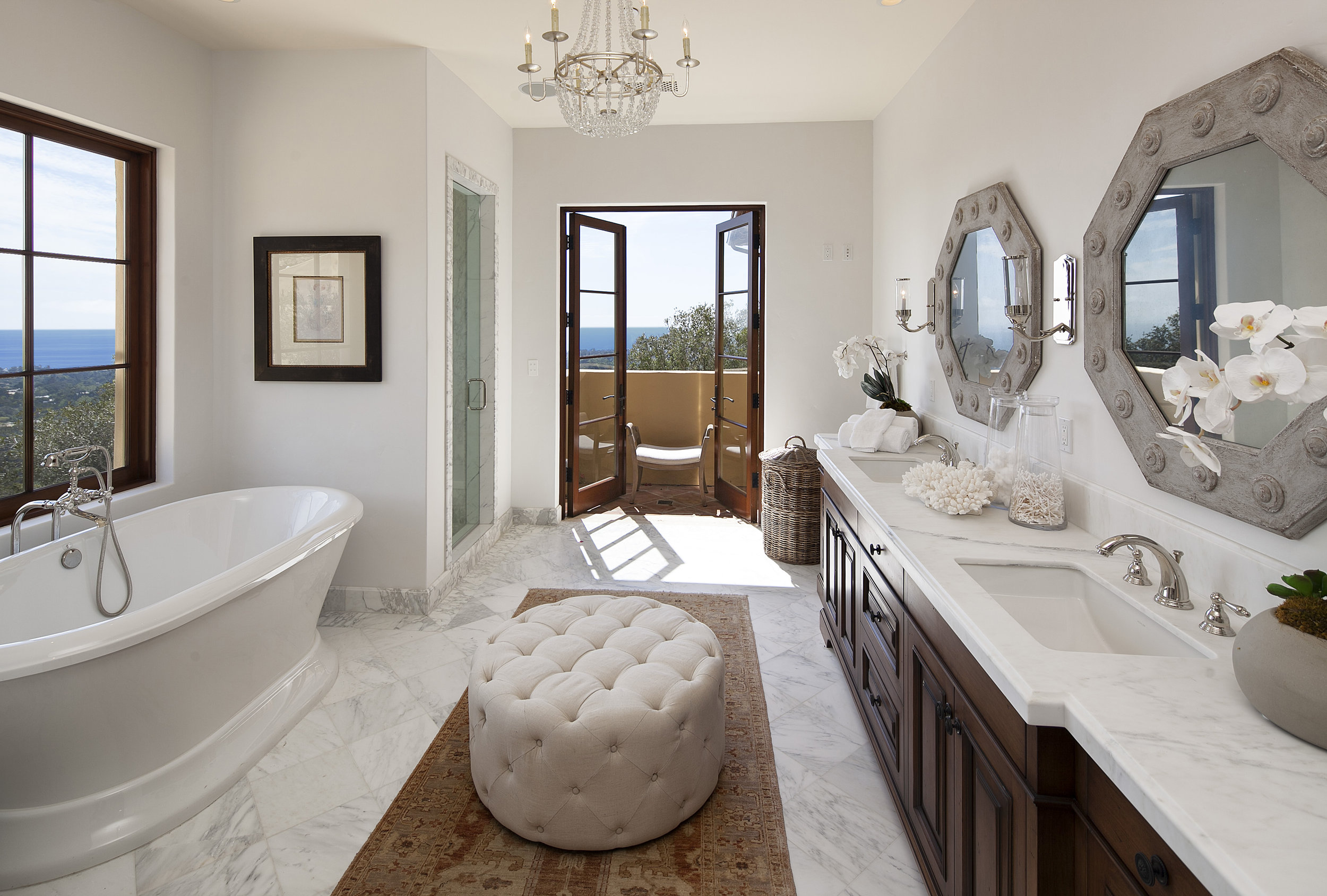 Property for Sale: 1398 Oak Creek Canyon Road, Montecito, CA 93108 List Price: $12,250,000 6 Beds 6.5 Baths 8,075 Sq Ft Exquisite Ocean View Villa!