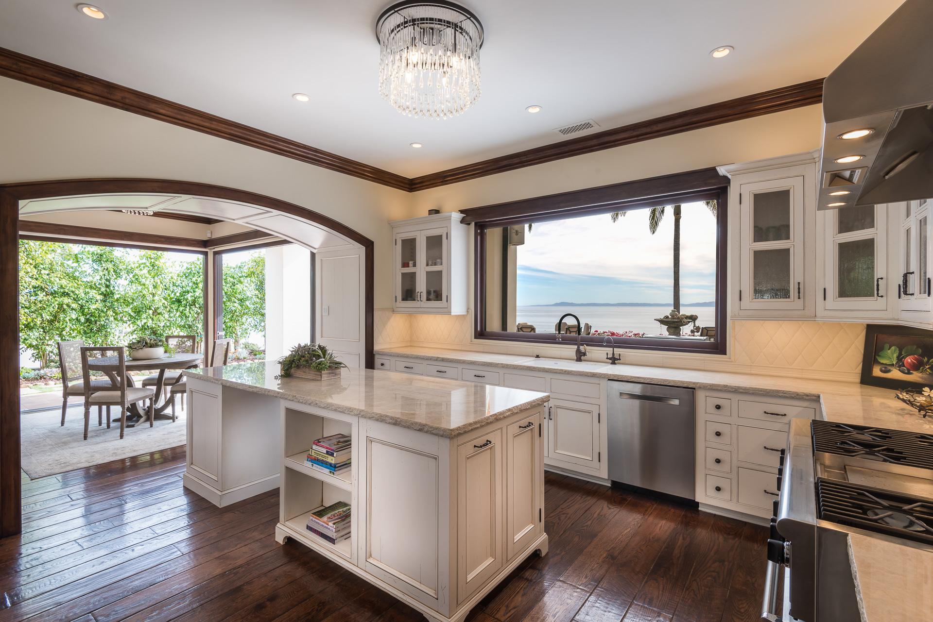 Kitchen with Ocean View