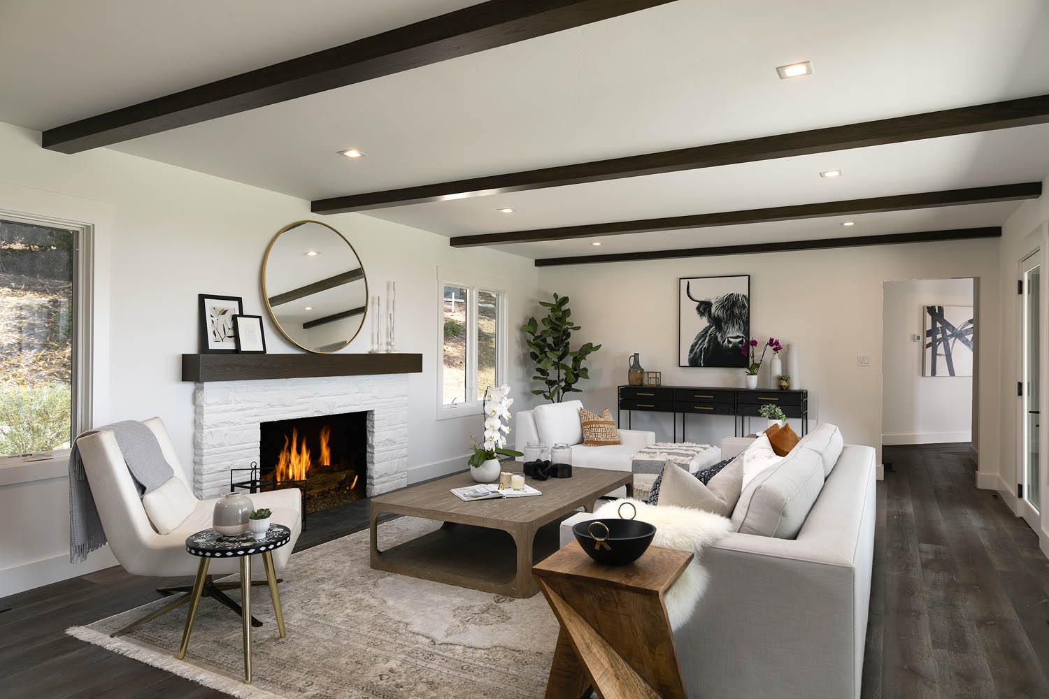 796 Park Lane West Montecito Riskin Partners Estate Group Village Properties  Expansive ocean views and 1.5-acre grounds pair with a newly remodeled, single-level contemporary farmhouse