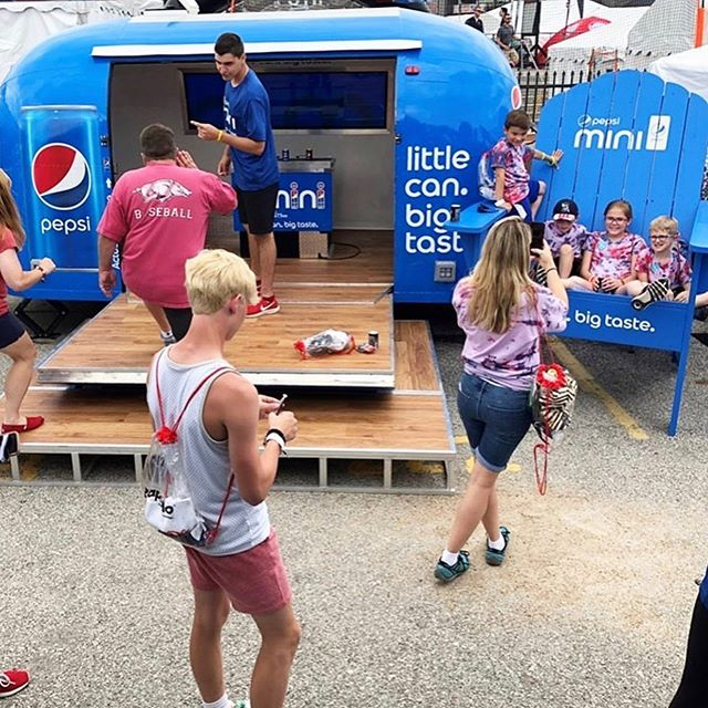 #MRue trailer designed for the College World Series. Get you some pepsi mini #Omaha. . . #cws #pepsi