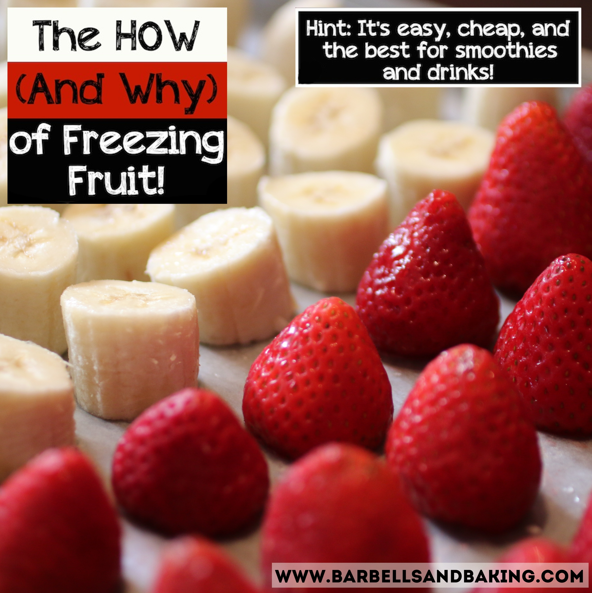 Learn how to properly freeze fruit for smoothies and drinks!!