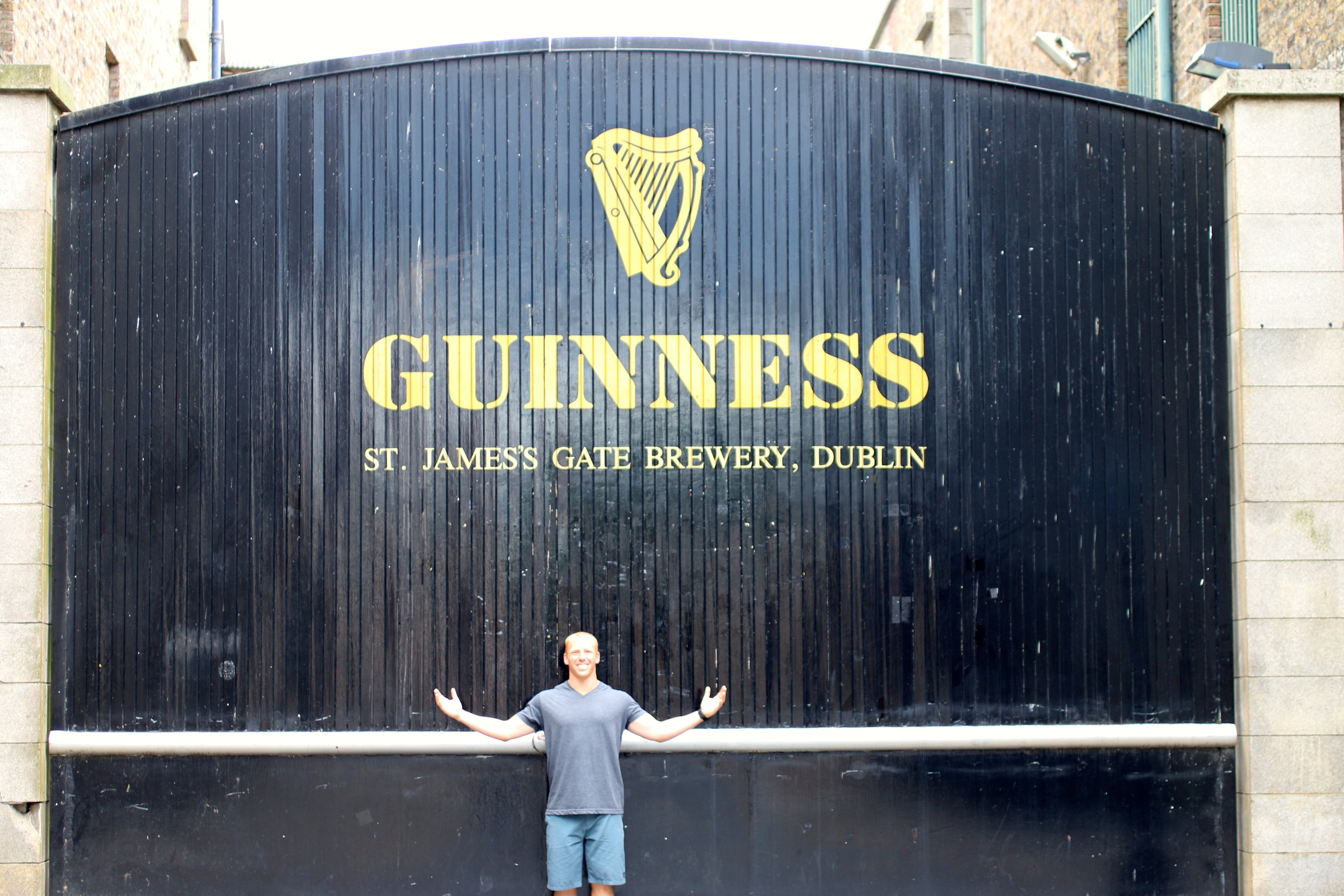 At the Guinness Factory!