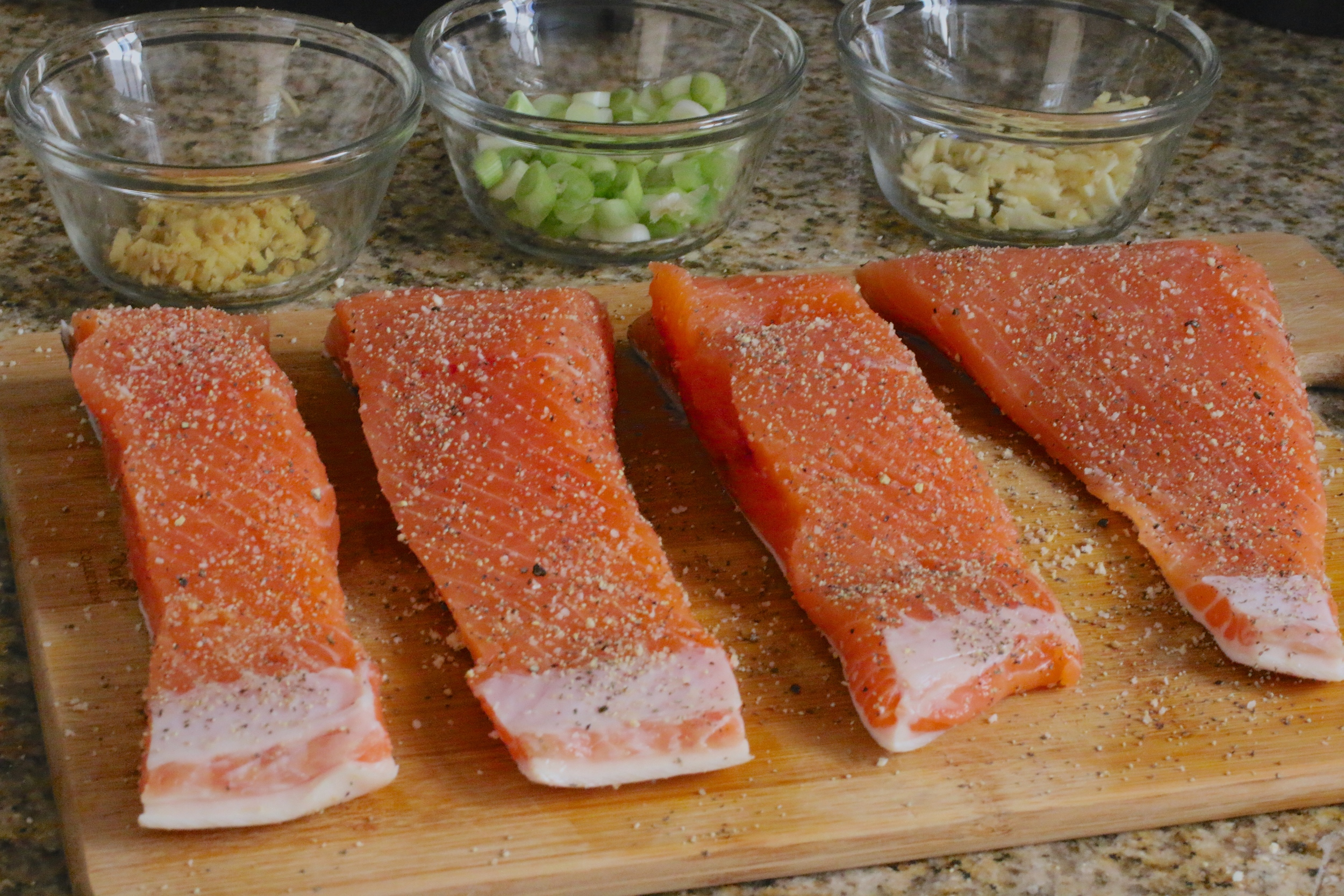 Maple Glazed Salmon Gluten Free Paleo - www.barbellsandbaking.com