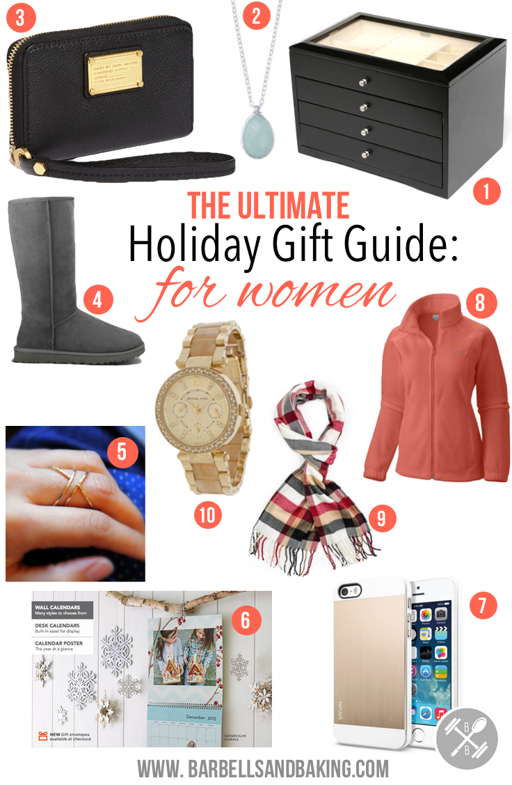 The 2014 Ultimate Holiday Gift Guide for Women - www.barbellsandbaking.com