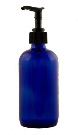 Top 5 Essentials for Essential Oils - Cobalt Glass Round Bottles with Pump Tops | www.barbellsandbaking.com