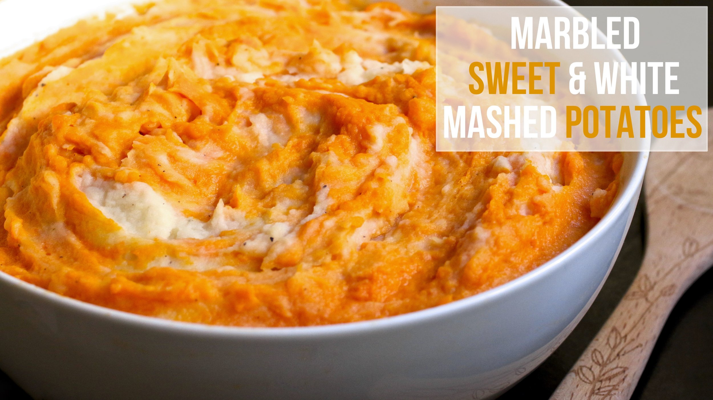 Marbled Sweet & White Mashed Potatoes | www.healthymamaspace.com