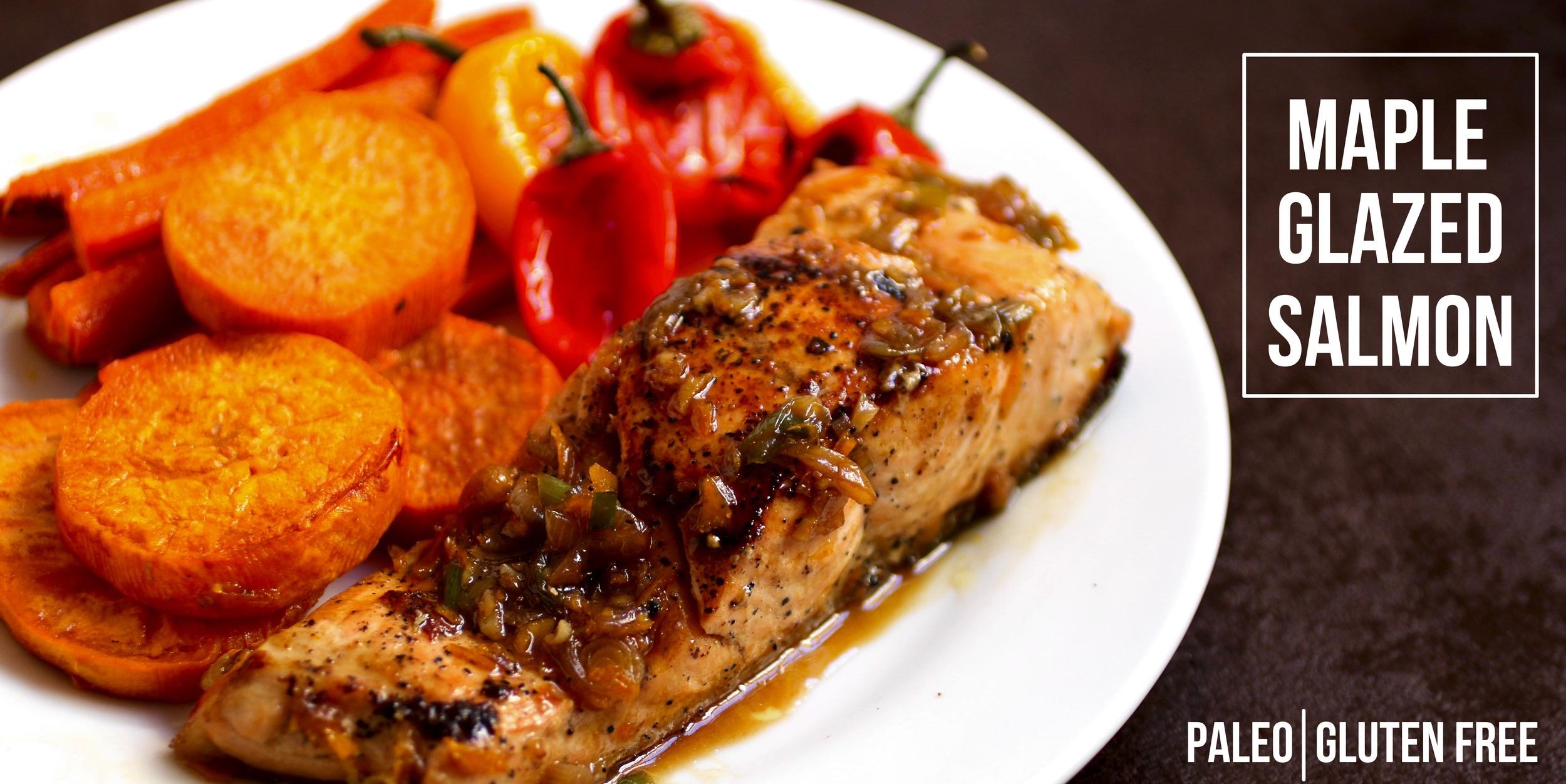 Maple Glazed Salmon | www.healthymamaspace.com