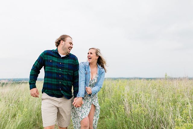 Was it going to storm, was it not, it was such a gamble with the forecast and being surrounded by dark clouds.  But we put all of our chips in and went for it and I'm so glad we did. We had the location to ourselves! 🙌🏼 Their wedding can't get here soon enough, I'm so excited to capture their big day!