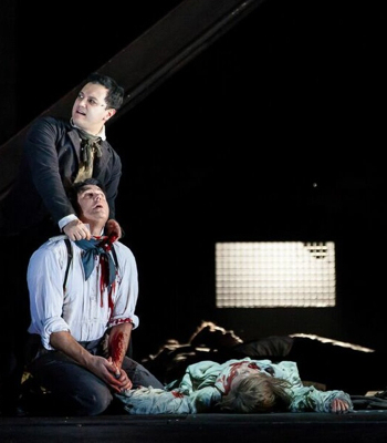 Tobias Ragg in  Sweeney Todd  (Sondheim) at Houston Grand Opera with Nathan Gunn, baritone (Photo credit: Lynn Lane)