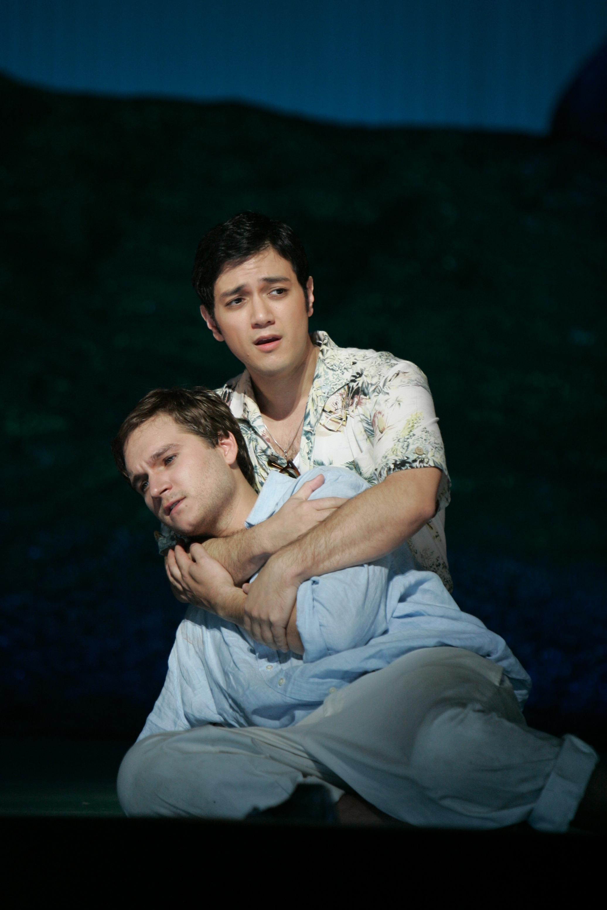 Damon in Acis and Galatea (Handel) at New York City Opera with Philippe Castagner, tenor (Photo credit: Carol Rosegg)