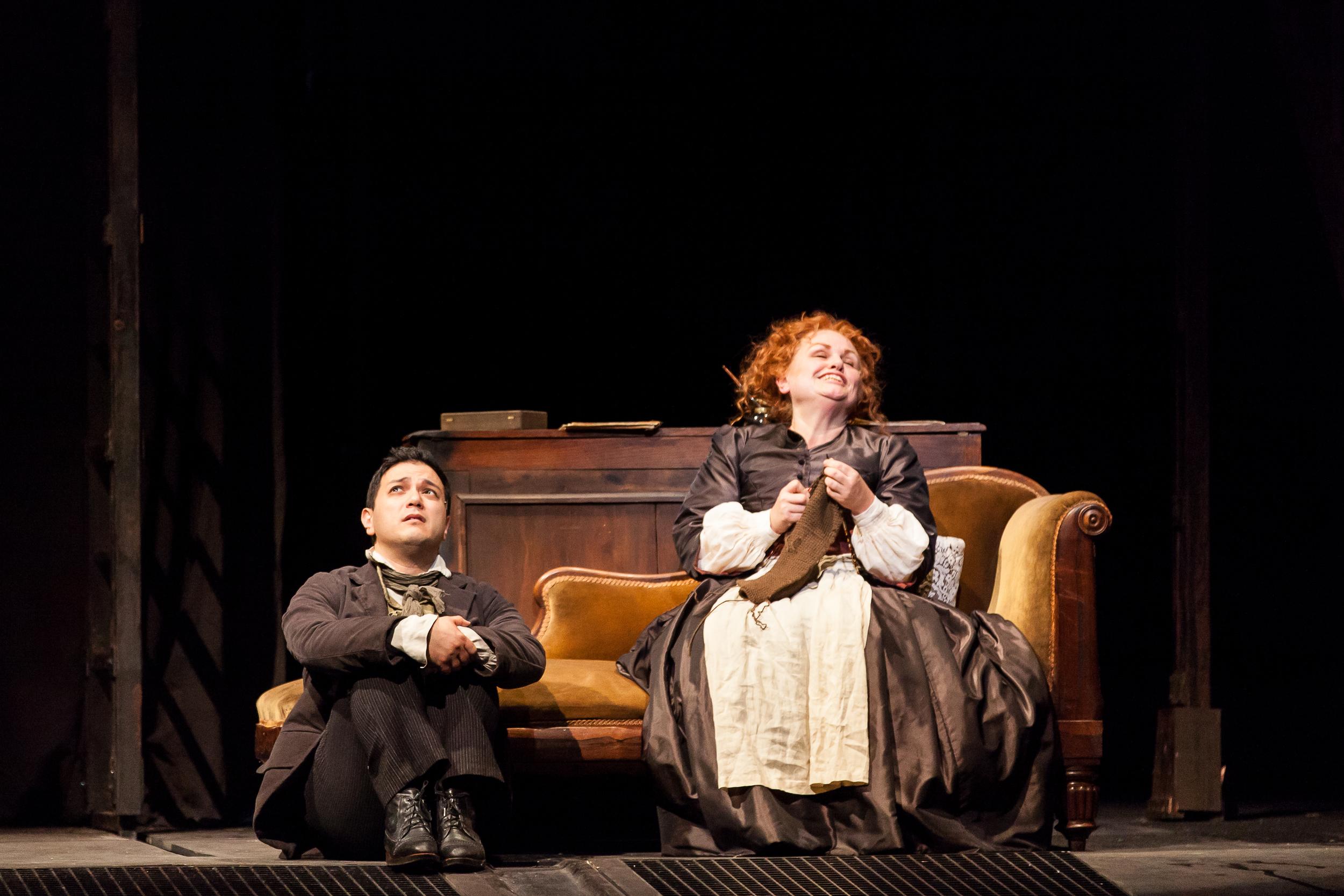 Tobias Ragg in  Sweeney Todd (Sondheim) at Houston Grand Opera with Susan Bullock, soprano (Photo credit: Lynn Lane)