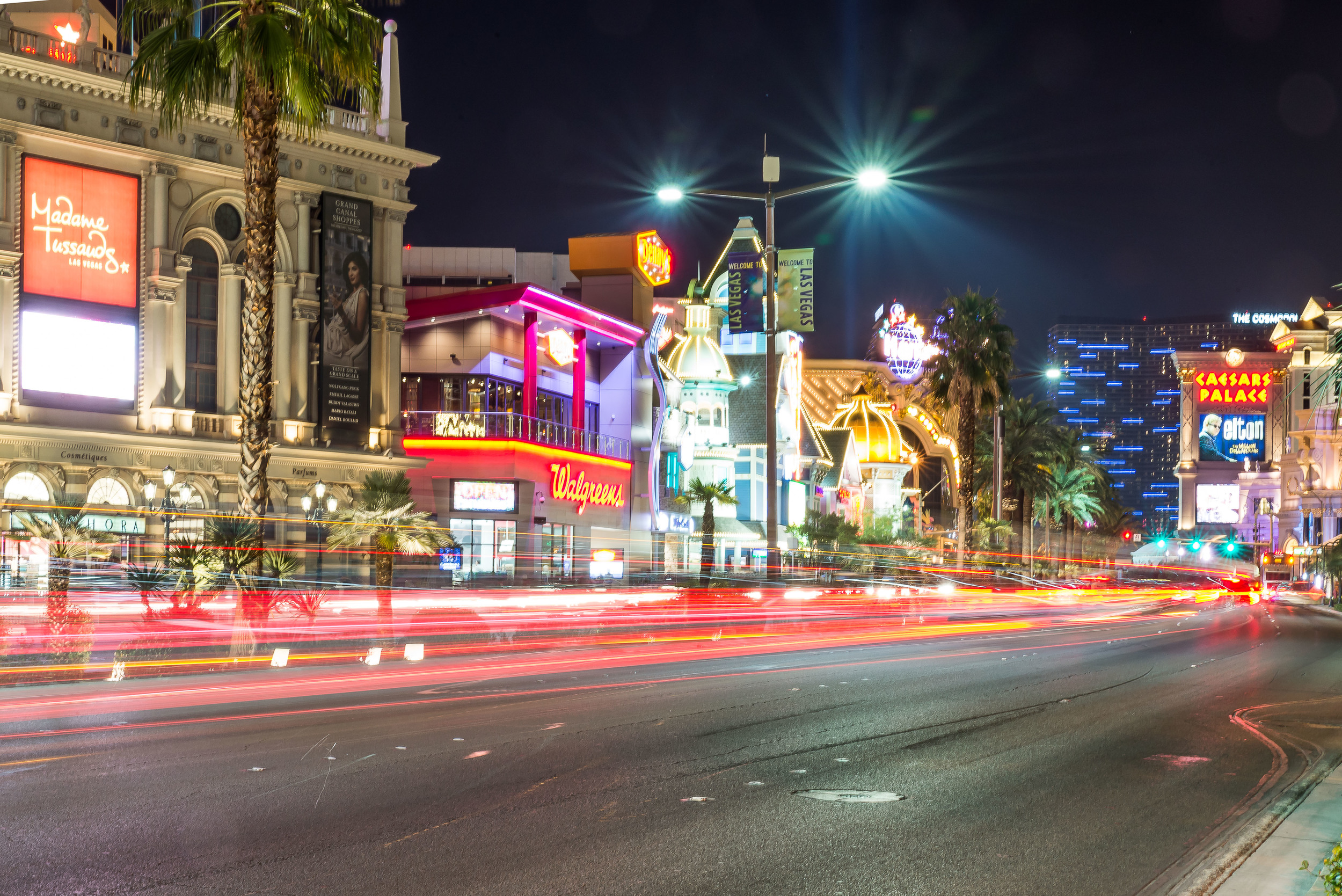 Light Trails on the Strip