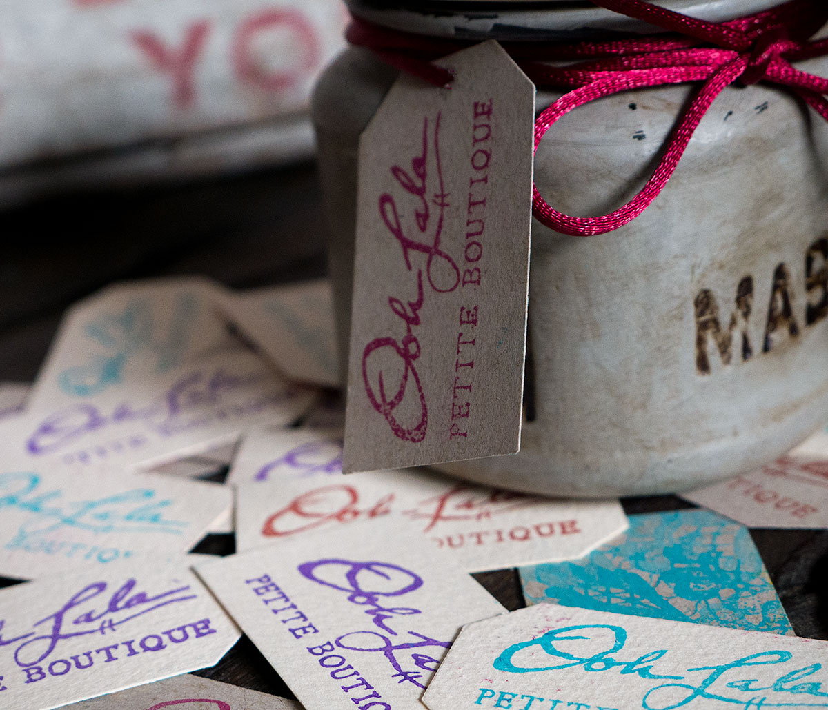 Tags for the candles