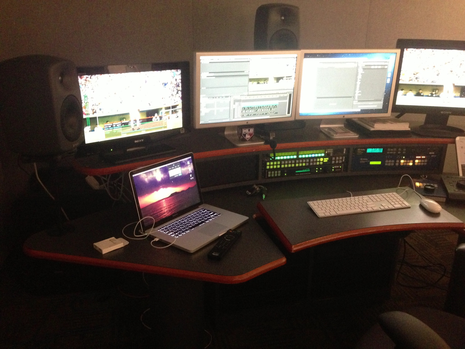 "My edit room while editing ""The Lymon Bostock Story"""
