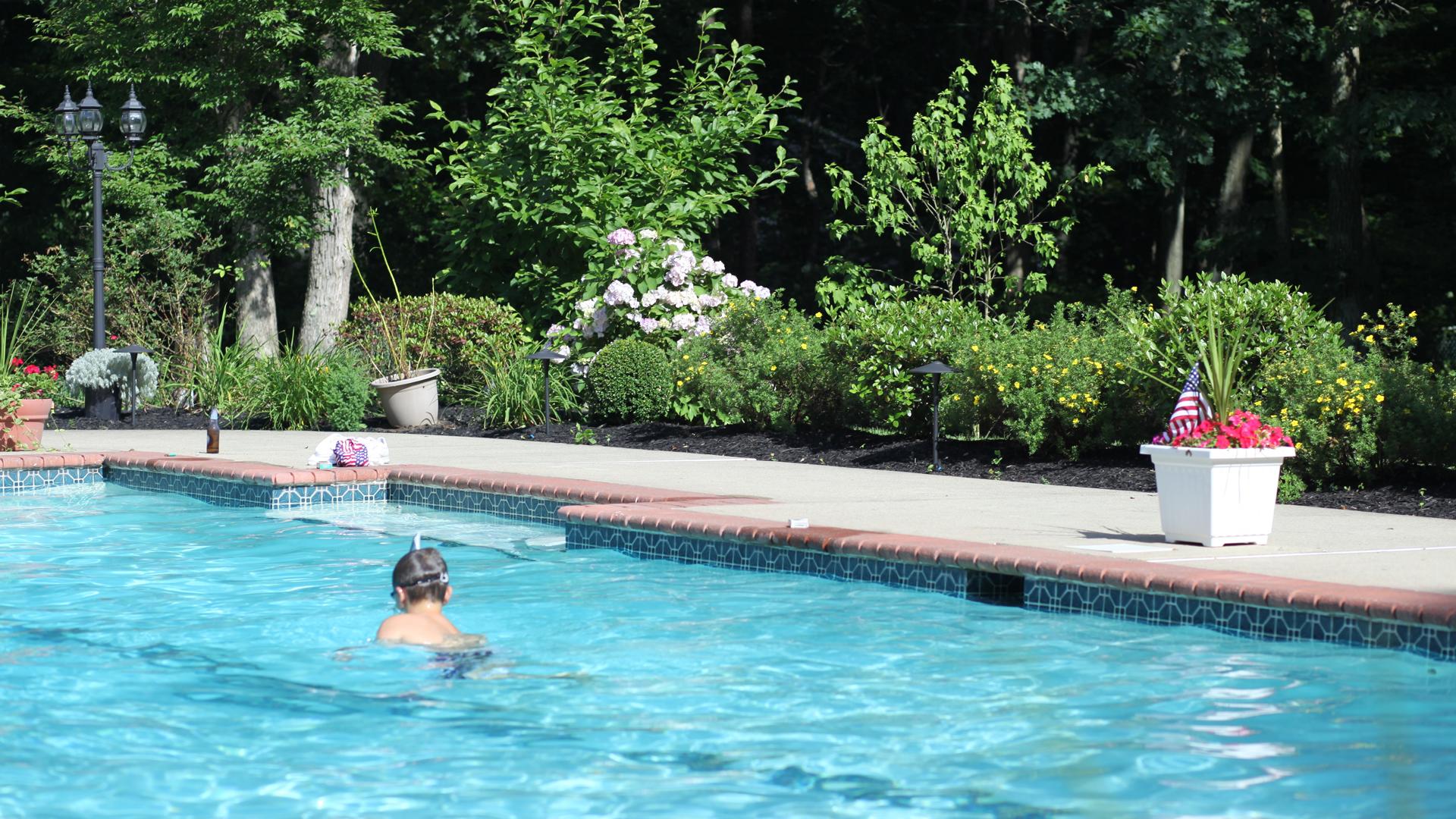 Nicholas taking a dip