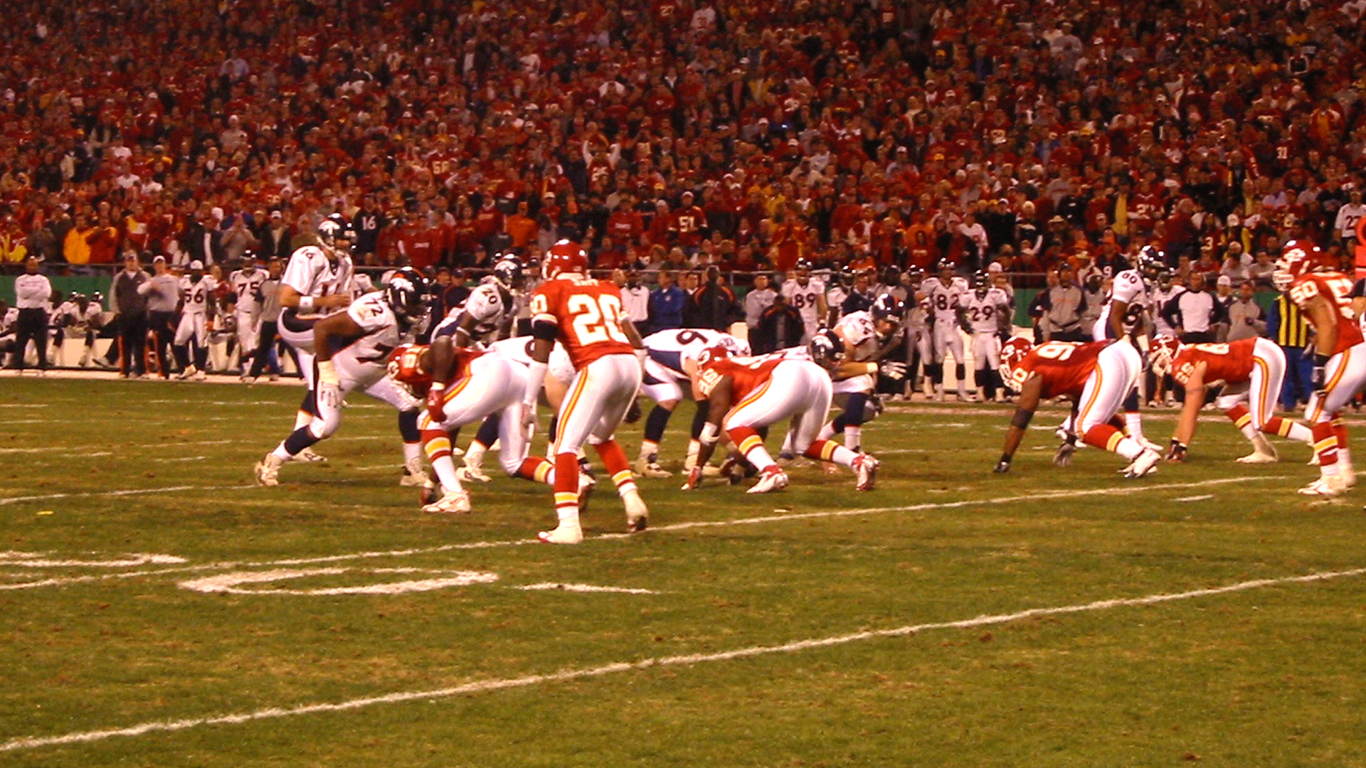 Sideline shooting for NFL Films, November 2006