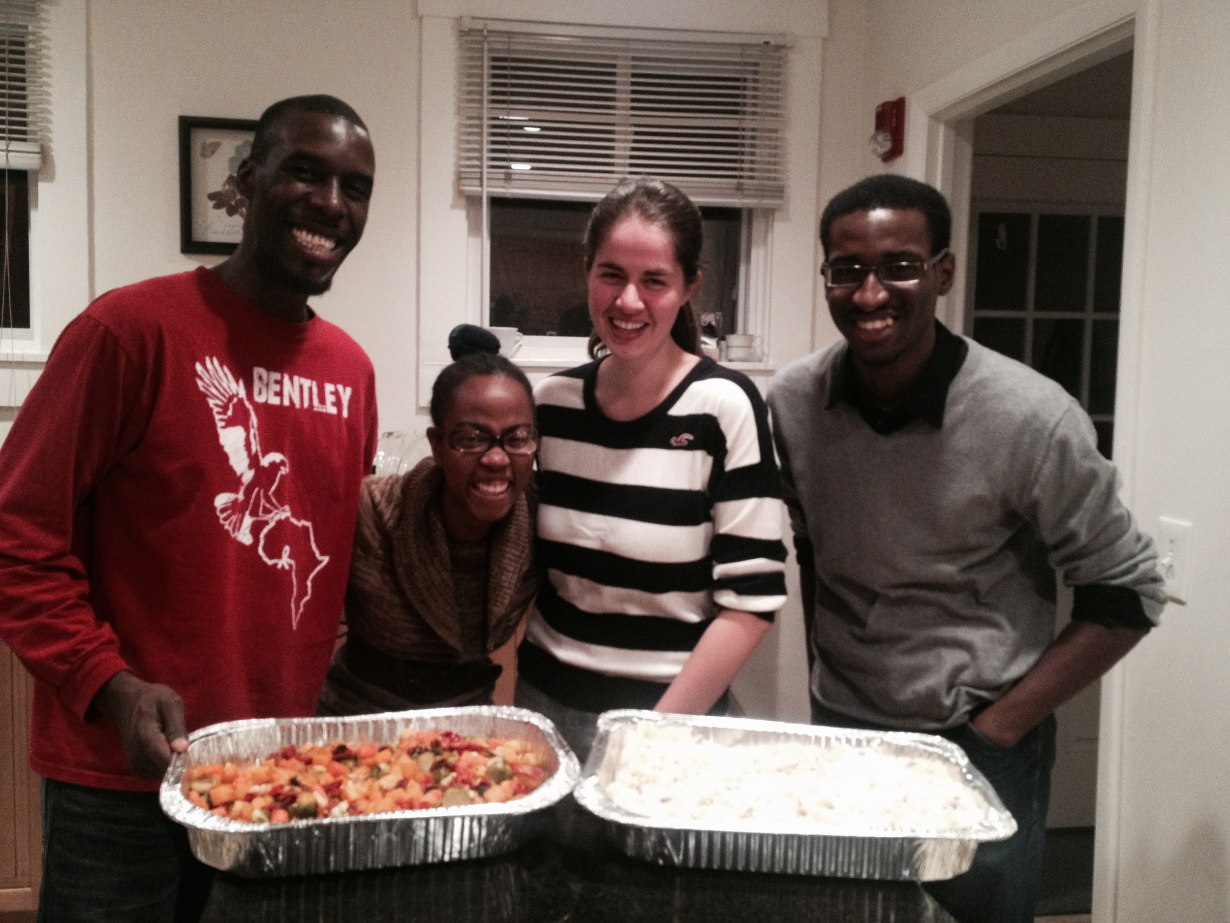 STRIDE Staff and MIT students prepared a Thanksgiving meal for local homeless women.