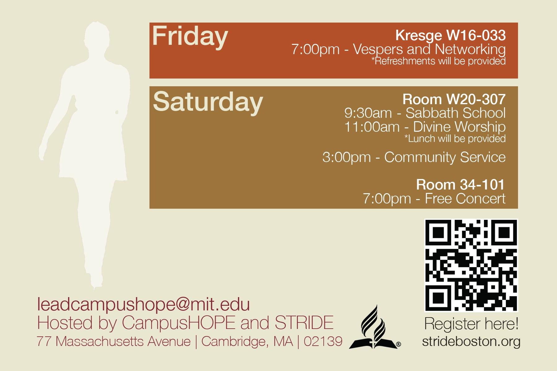 Summit Weekend Schedule