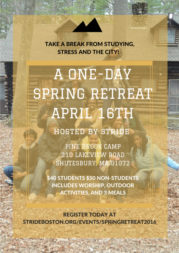 Spring Retreat 2016 Flyer