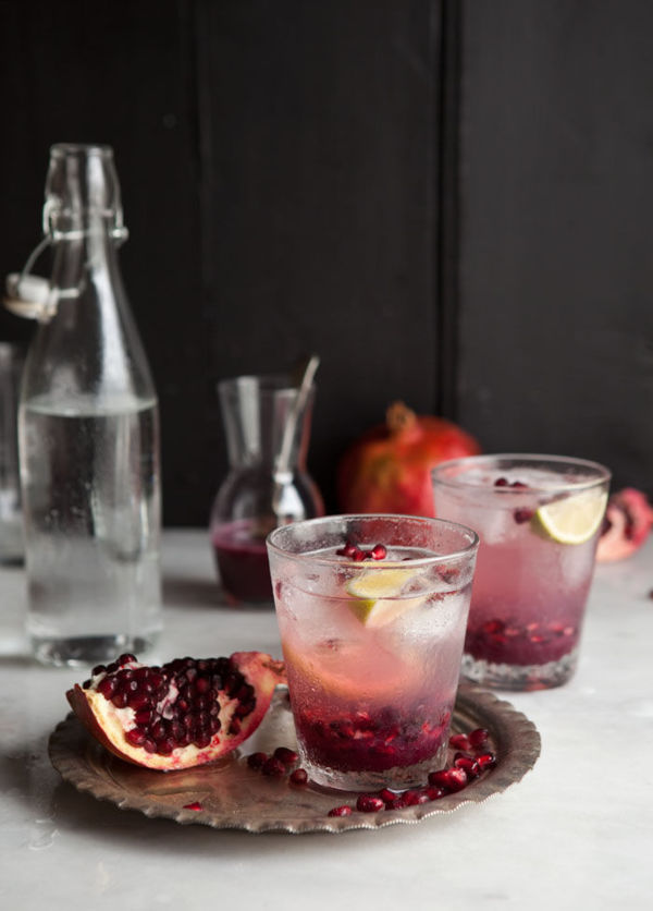 Pomegranate and Ginger Spritzer from  Drizzle & Dip.