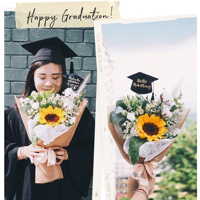 [GIVEAWAY]  Congrats class of 2019, say hello to your exciting adulting journey ahead! To celebrate your graduation, @nehohmee hohmee and I are hosting this giveaway where we are giving you or your loved one a FREE graduation bouquet :) ⠀⠀⠀⠀⠀⠀⠀⠀⠀ There are 3 designs to choose from. 1⃣Hello Adulting! 2⃣And so the adventure begins!  3⃣She believed she could so she did! ⠀⠀⠀⠀⠀⠀⠀⠀⠀ All you got to do is this: 1⃣ Like this post & follow @helloflowerssg and @nehohmee  2⃣Tag a 2 friends and let us know which topper is your favourite! 3⃣Bonus if you share this post into your ig story and tag us!! ⠀⠀⠀⠀⠀⠀⠀⠀ Multiple entries allowed!! ⠀⠀⠀⠀⠀⠀⠀⠀⠀ The winner has to be based in Singapore. ⠀⠀⠀⠀⠀⠀⠀⠀⠀ Giveaway ends on 10 July 2359. Winners will be contacted via DM on 11 July. Do reply within 4 hours as we will have to select another winner if you're non responsive.