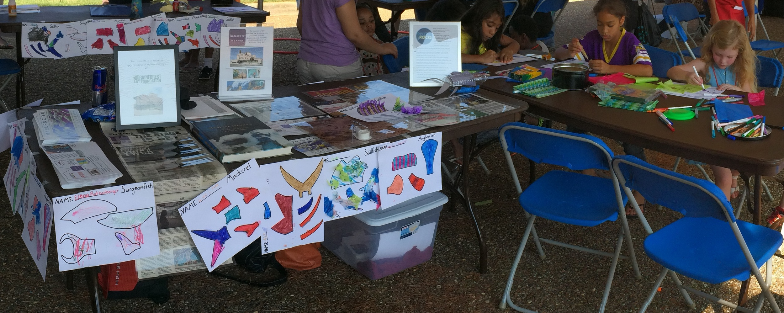 Kids designed fins at Super Safety Saturday earlier this year as part of the project.