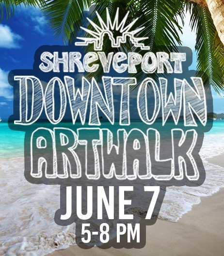 The closing reception will be held during the June North Louisiana Downtown Artwalk on   June 7, 2017, from 5-8PM.