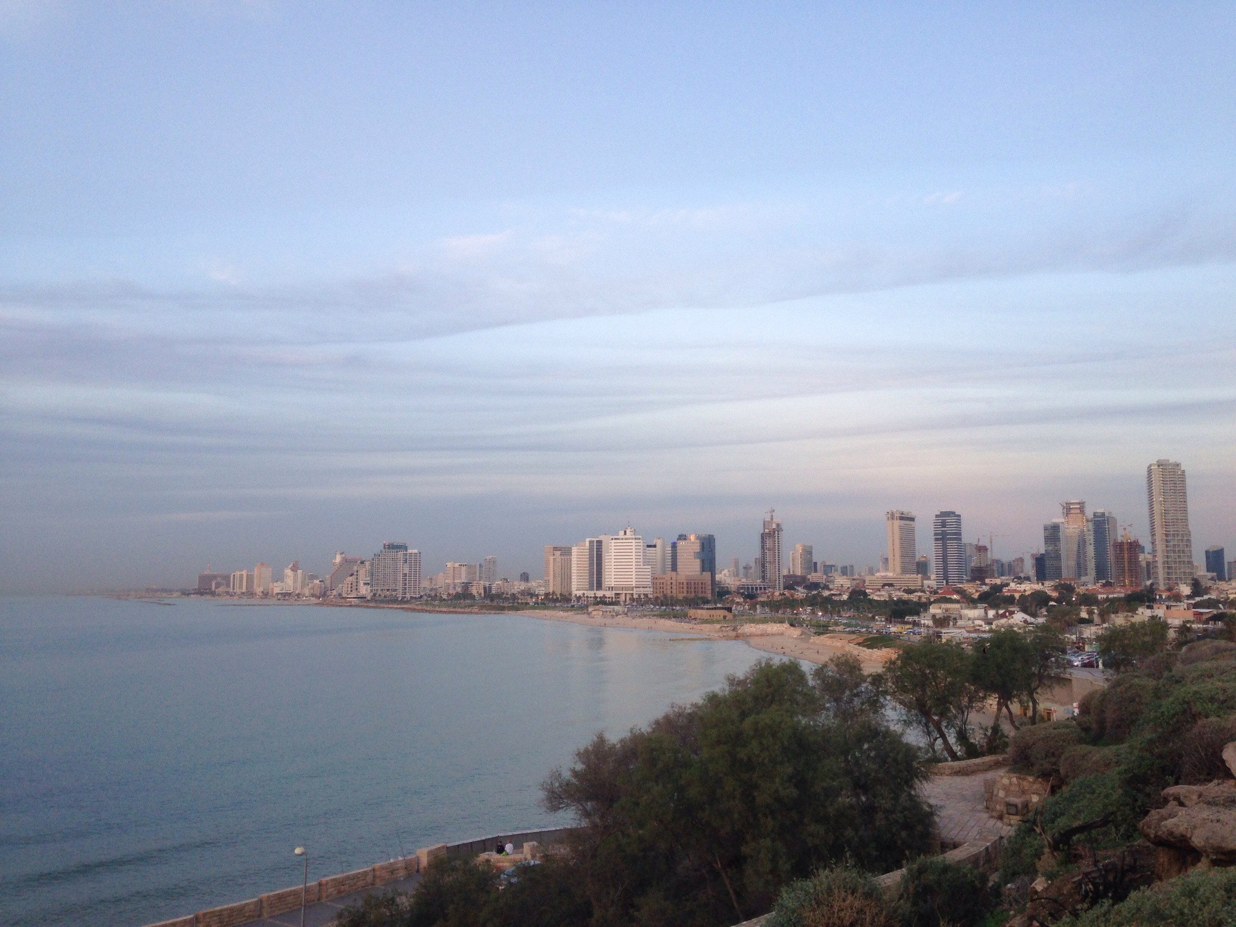 A view from Tel Aviv from Yafo.