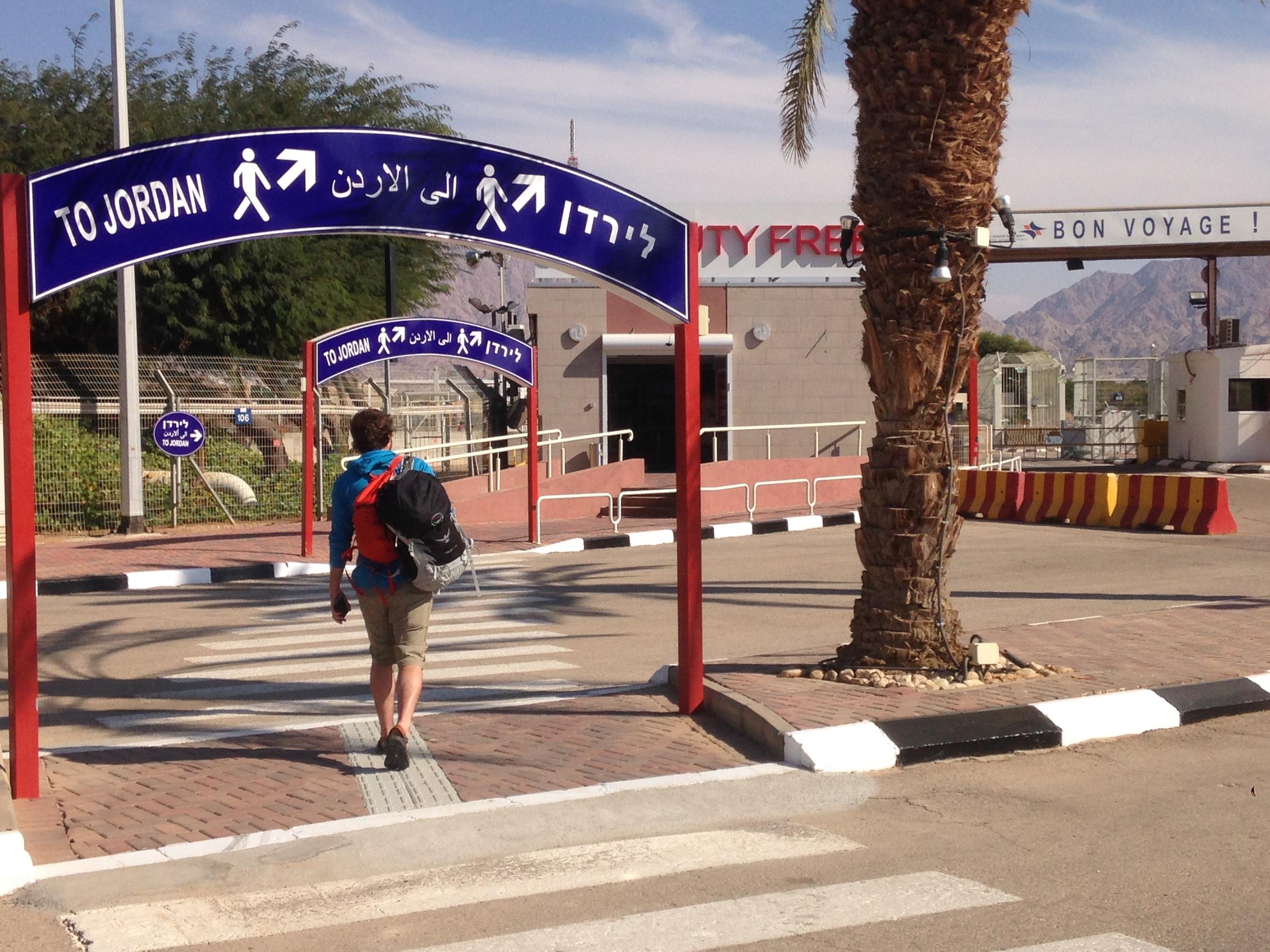 Walking between Jordan and Israel