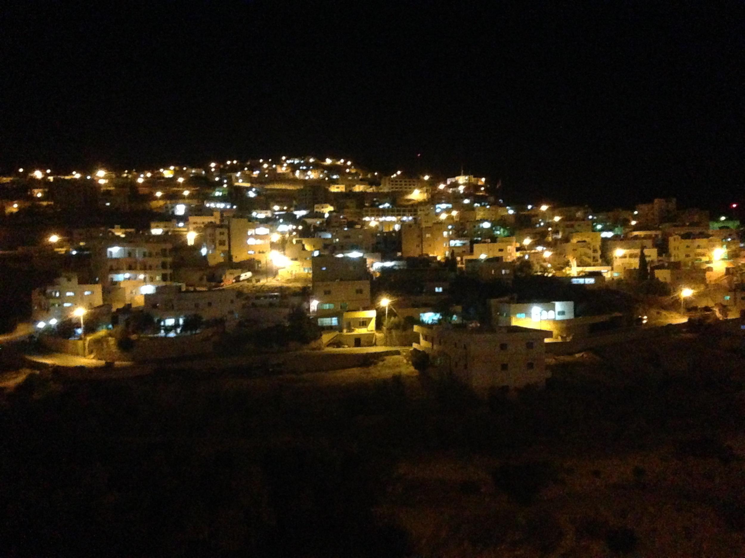 Wadi Musa at night