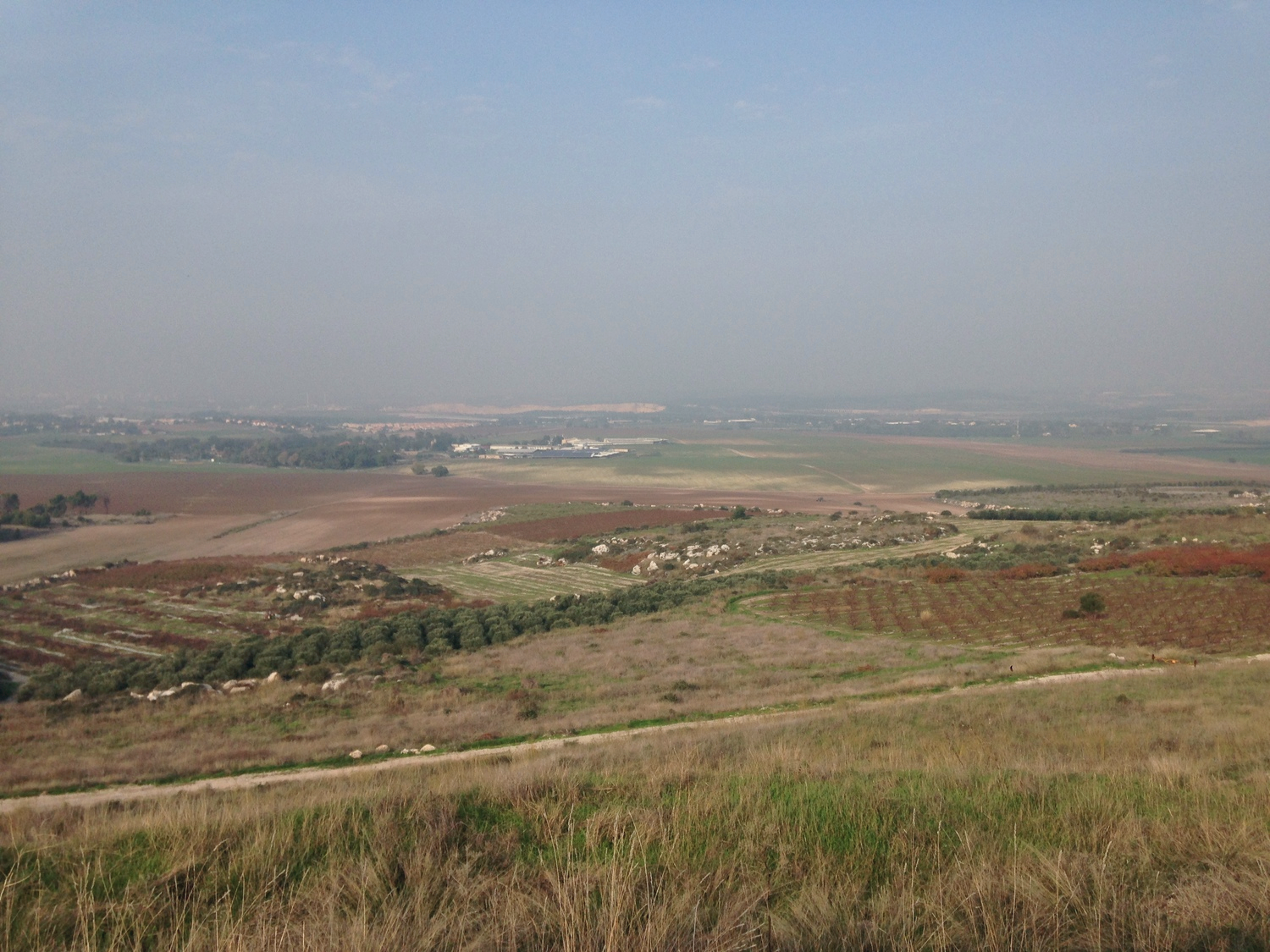 Gezer in the distance, seen from the top of Tel Gezer.