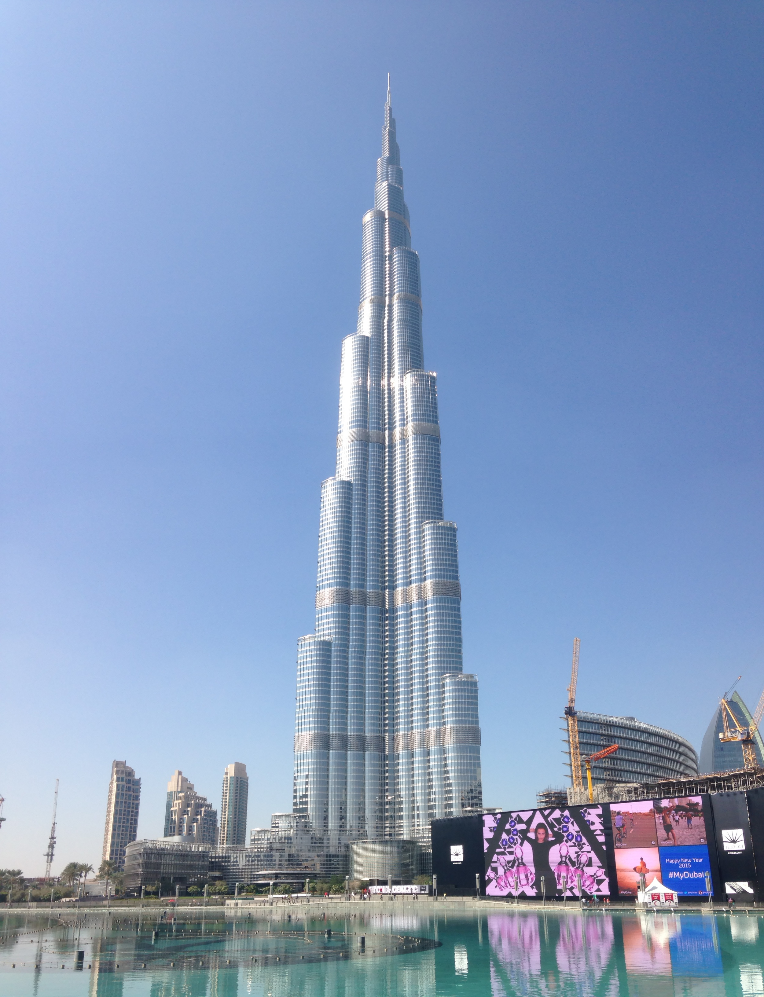 The Burj Khalifa - I had to use the panoramic mode in order to fit the whole thing in the picture.