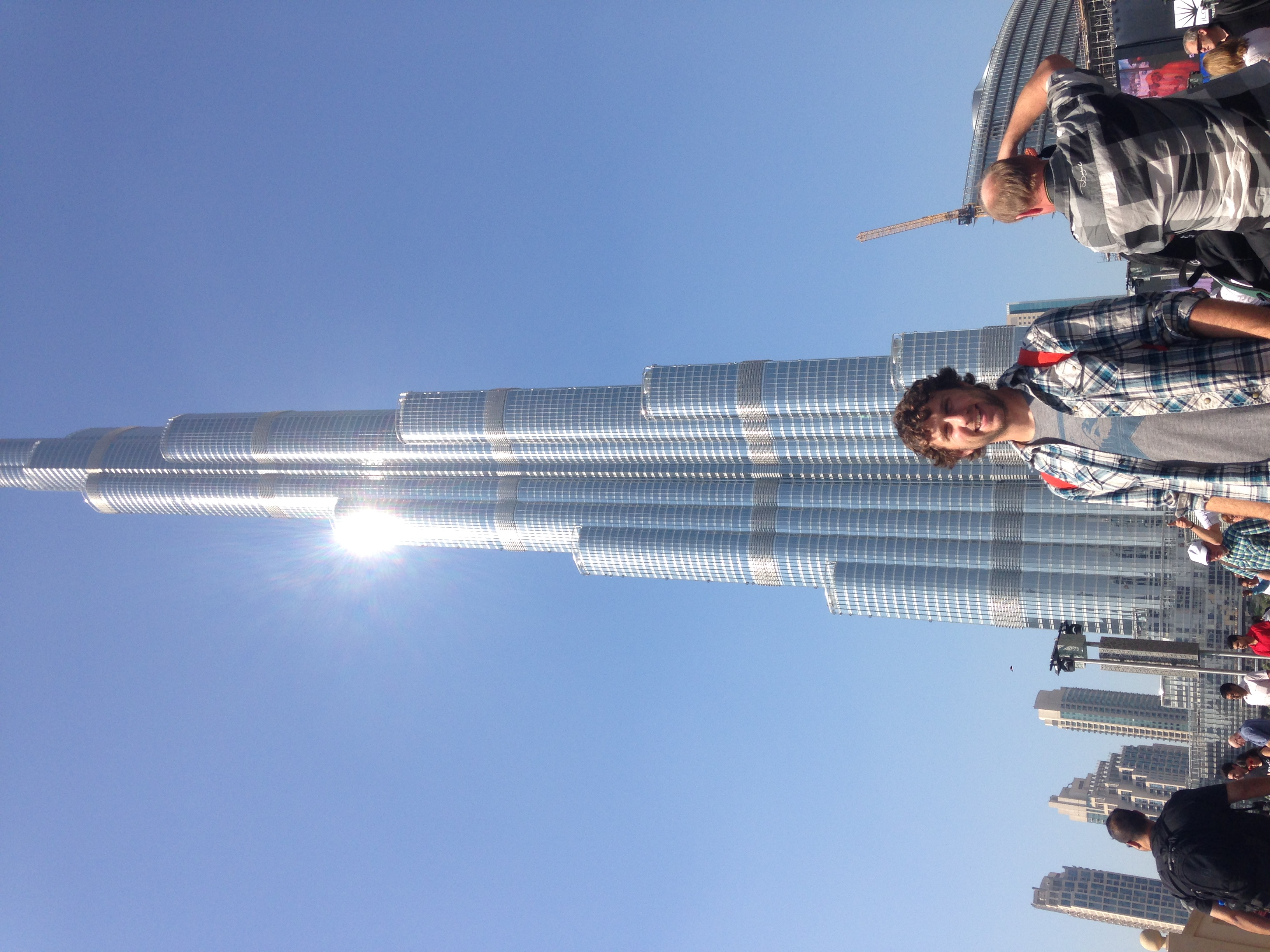 Me in front of the Burj Khalifa