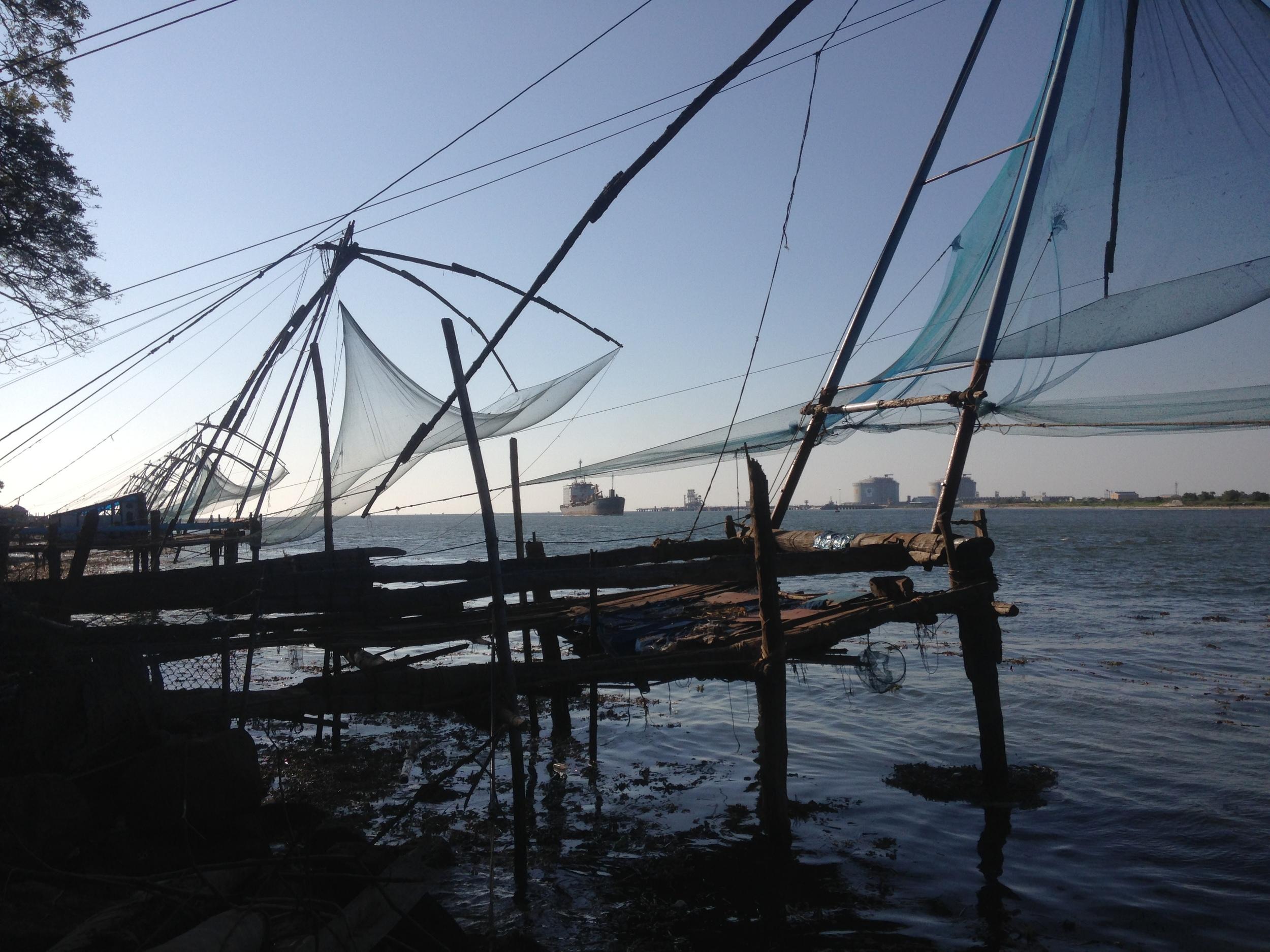 The Chinese fishing nets of Fort Kochi.