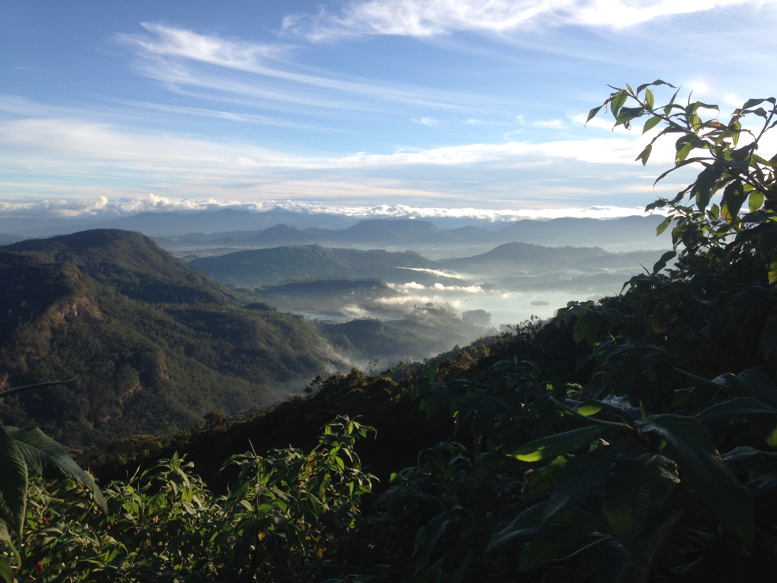 The spectacular view on the way down from Adam's Peak.