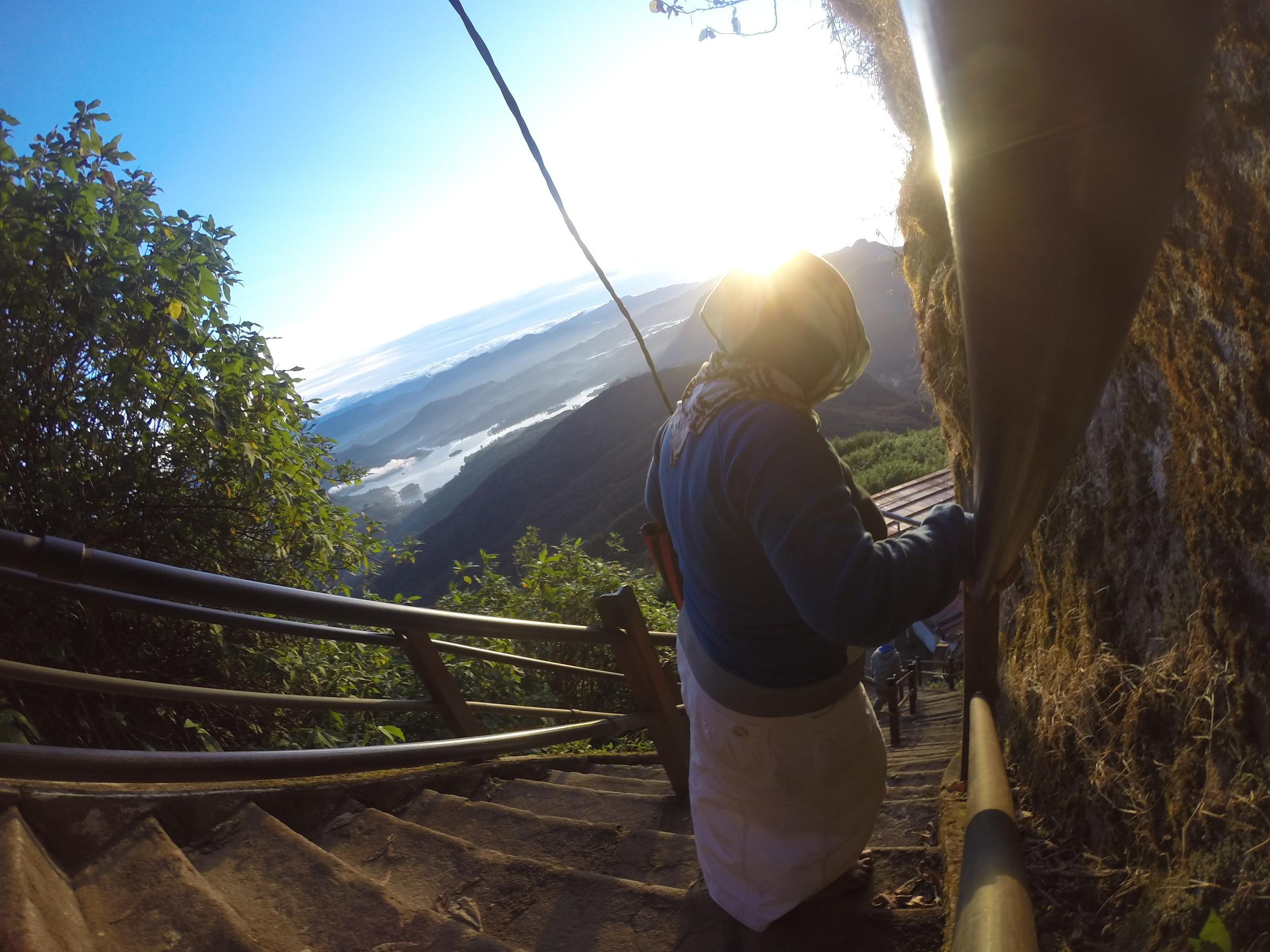 Descending Adam's Peak.