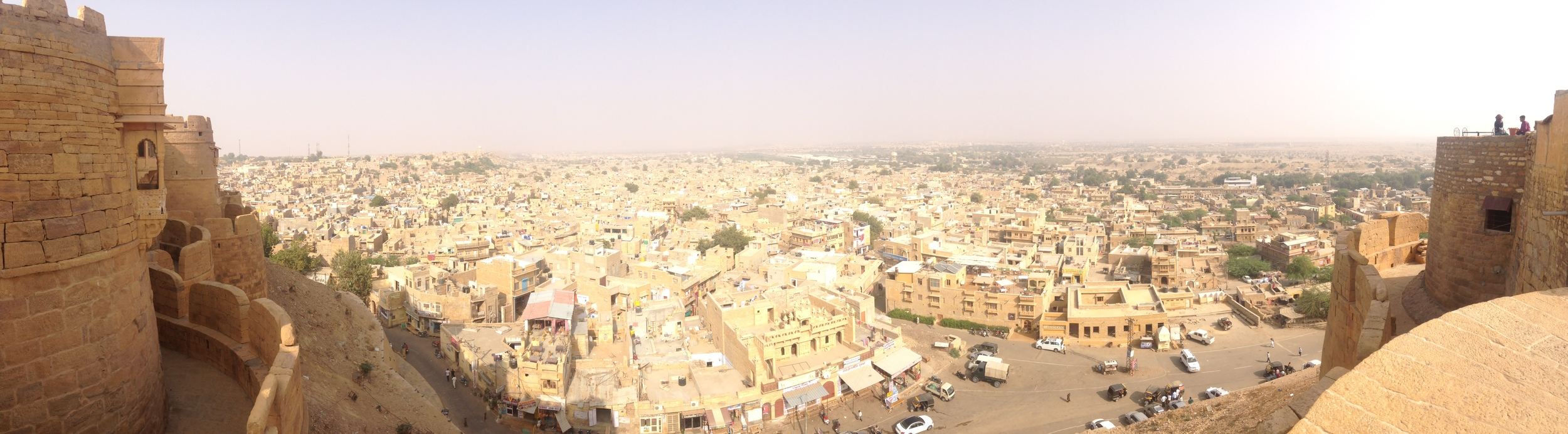 View of Jaisalmer from the fort.