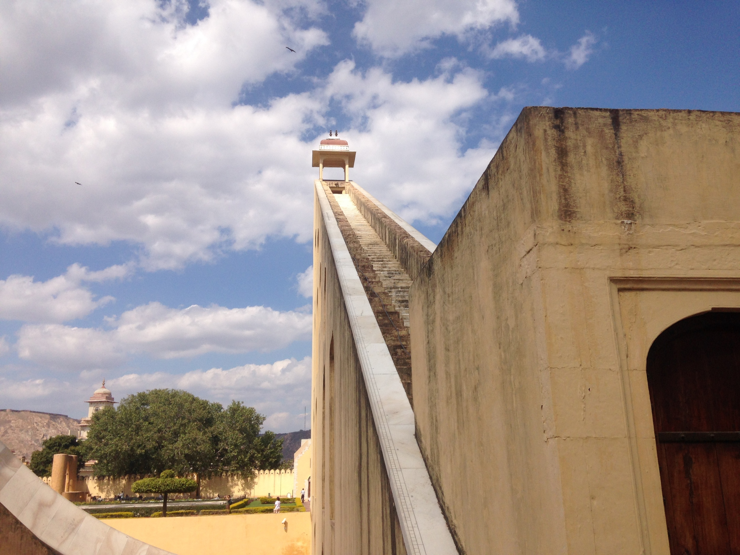 The giant sundial at Jantar Mantar
