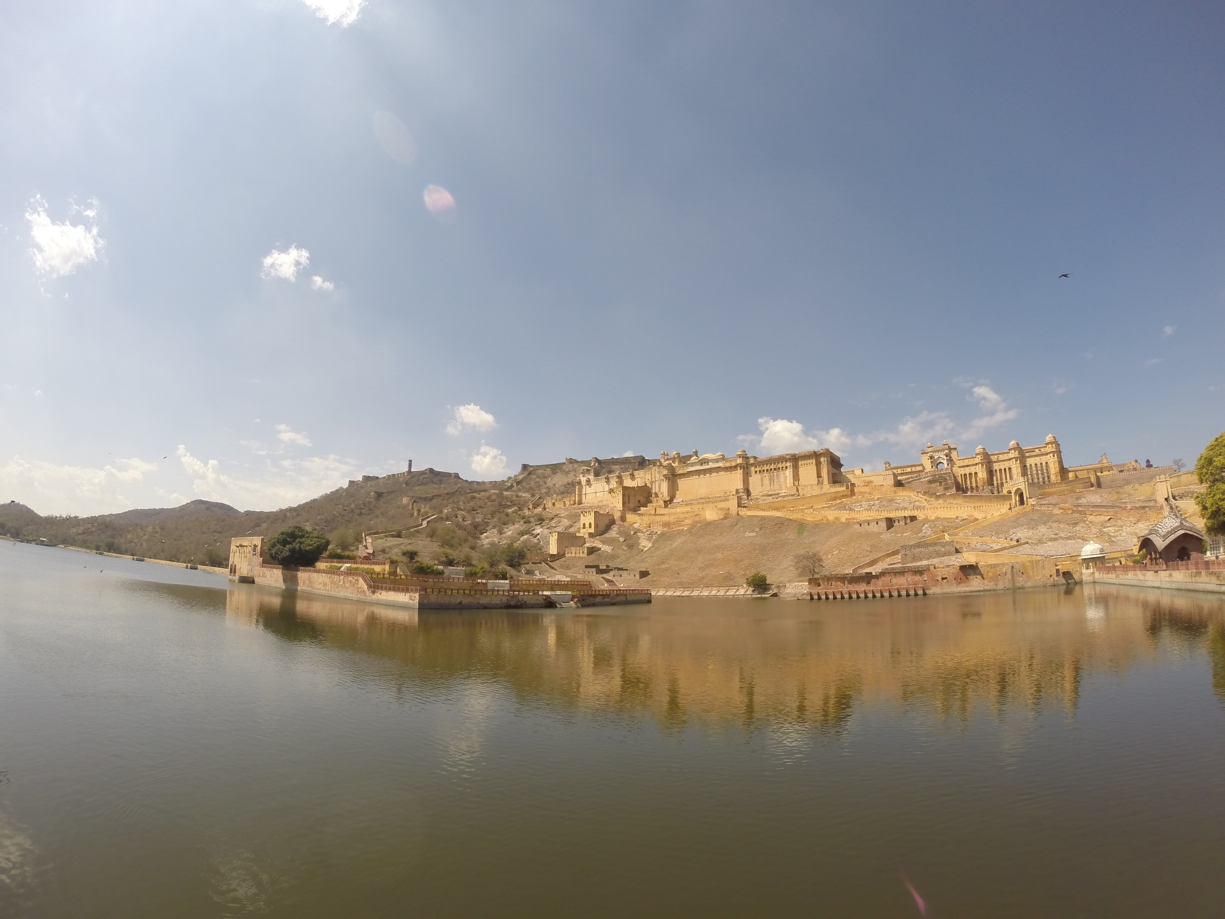 The Amer Fort outside of Jaipur.