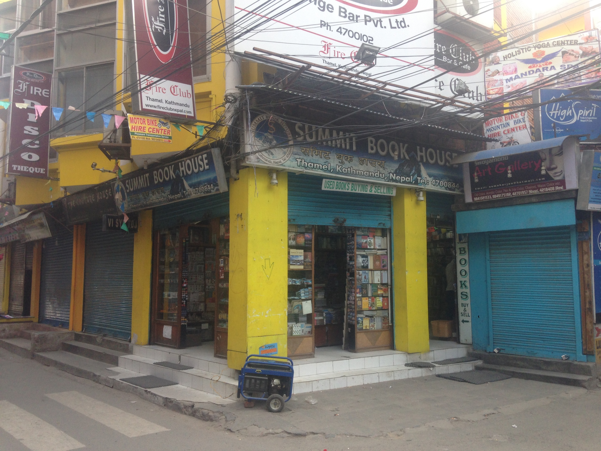 This bookstore was open every day following the quake running their own generator.