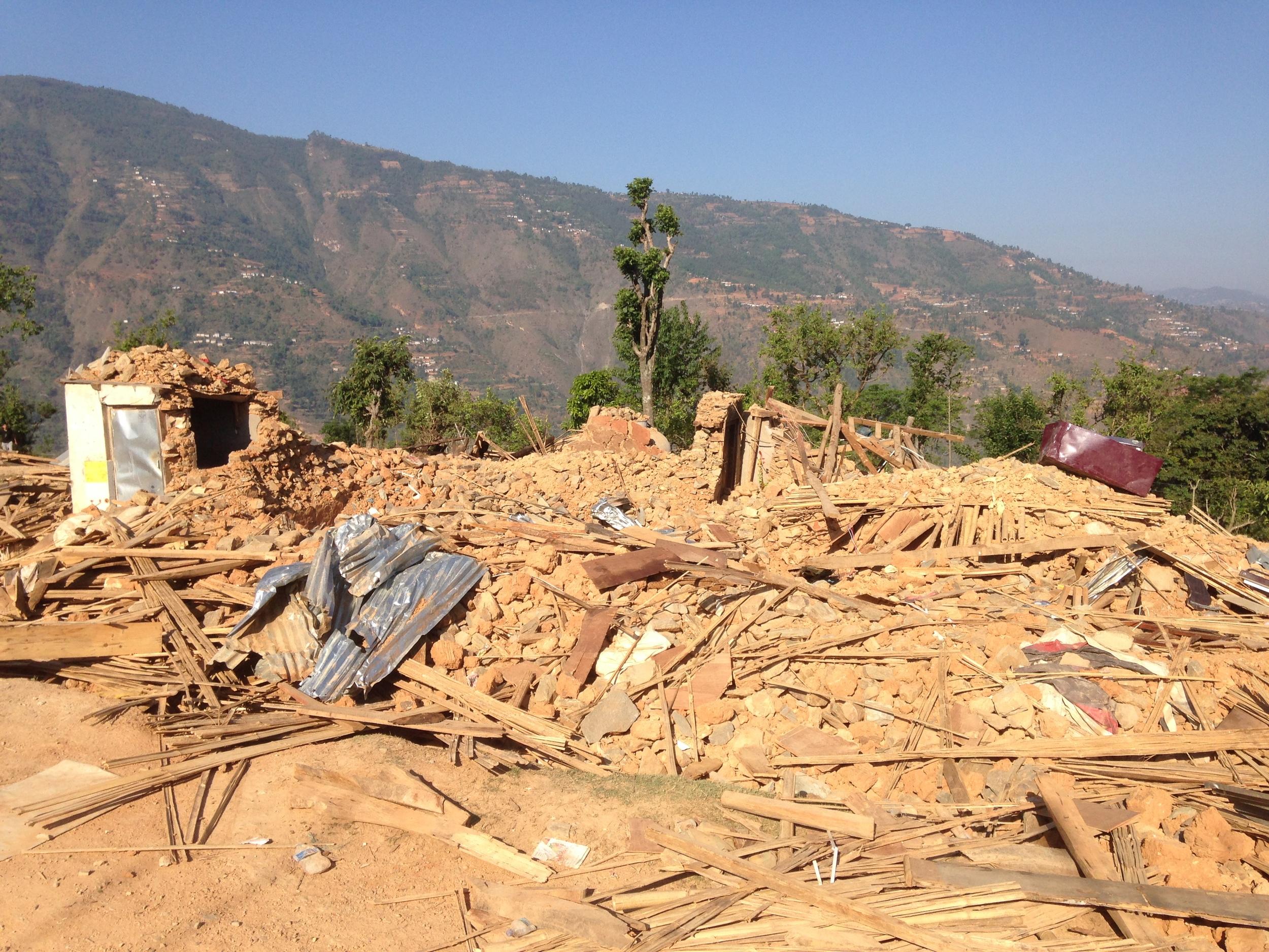 Complete destruction in Deurali.