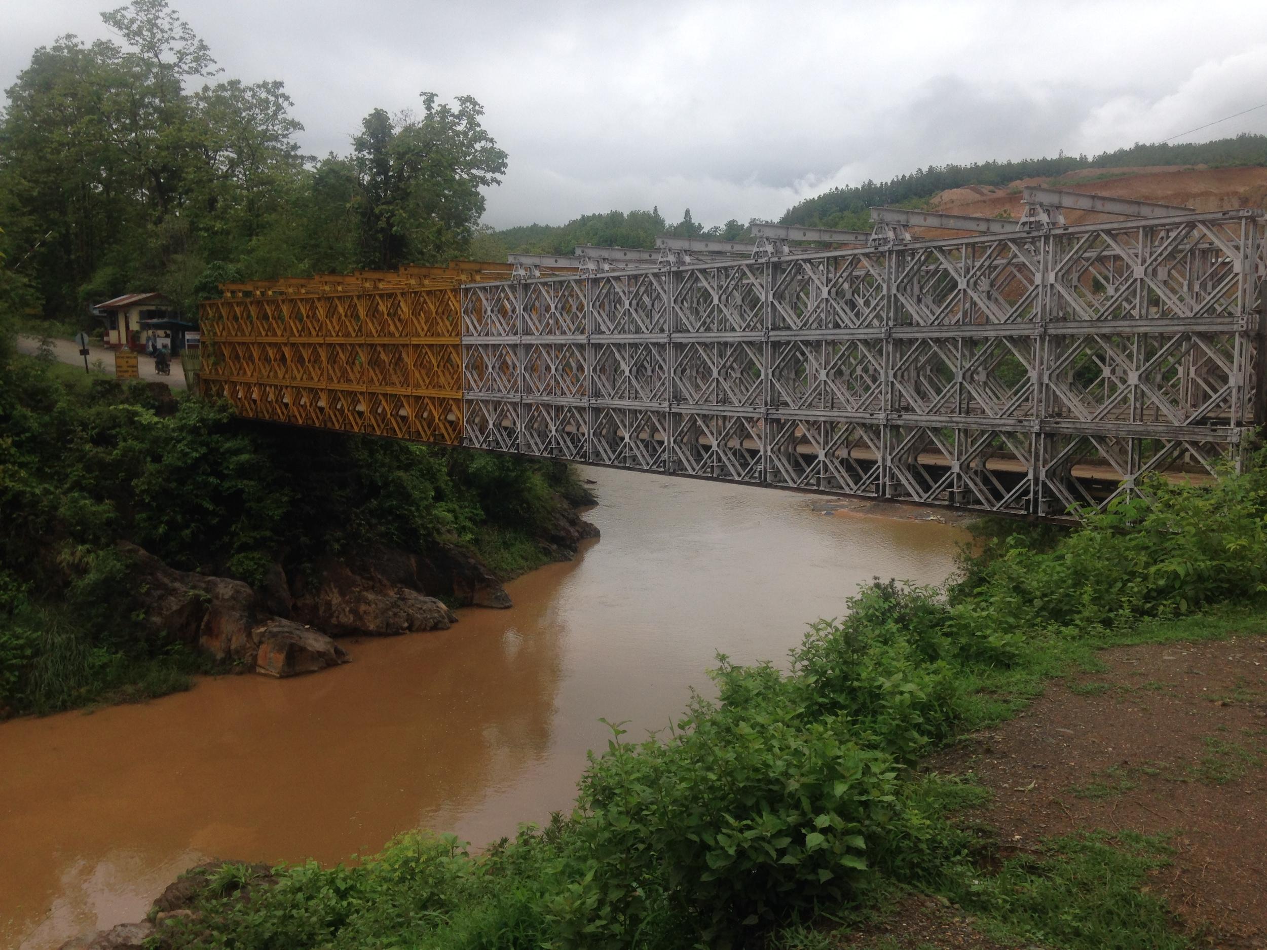 The Friendship Bridge between India and Myanmar.