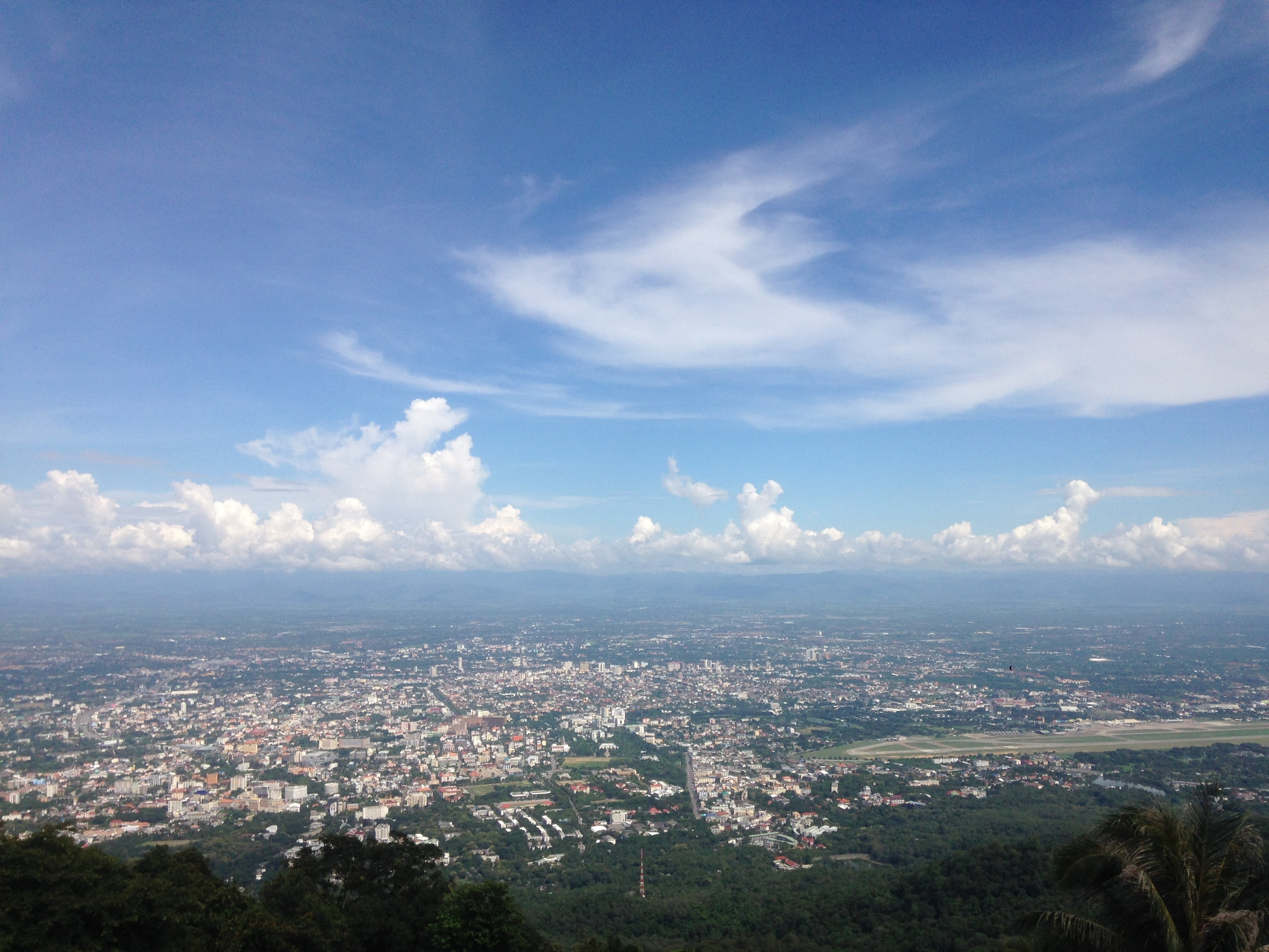 The view of Chiang Mai from Doi Suthep