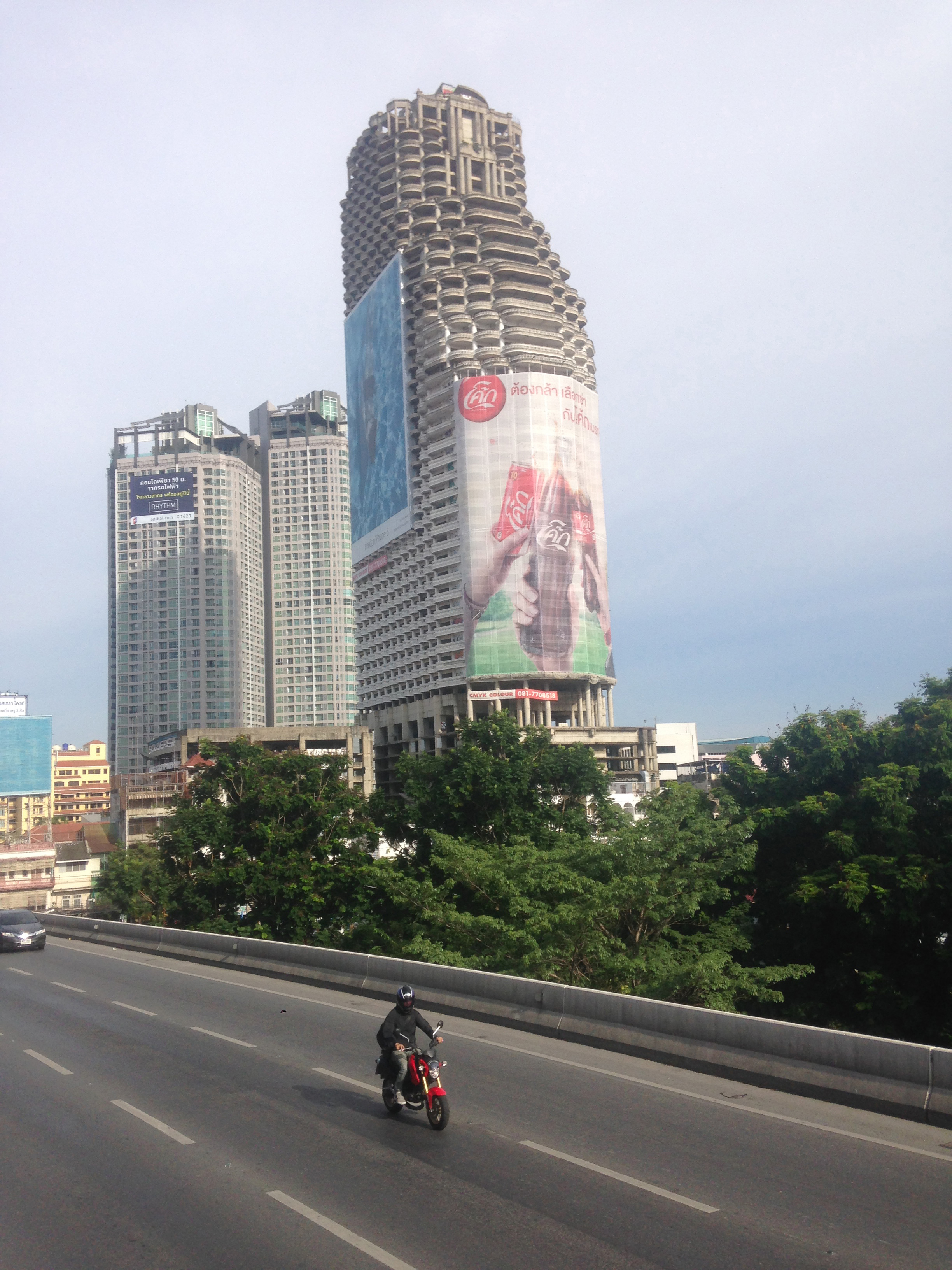 The Ghost Tower as seen from the Saphan Taksin BTS Station
