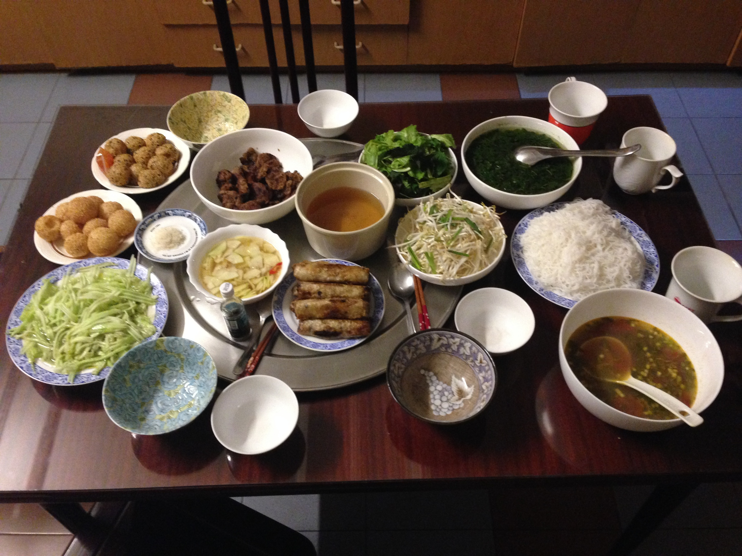 The best feast in all of Vietnam, courtesy of Richard's Mom.