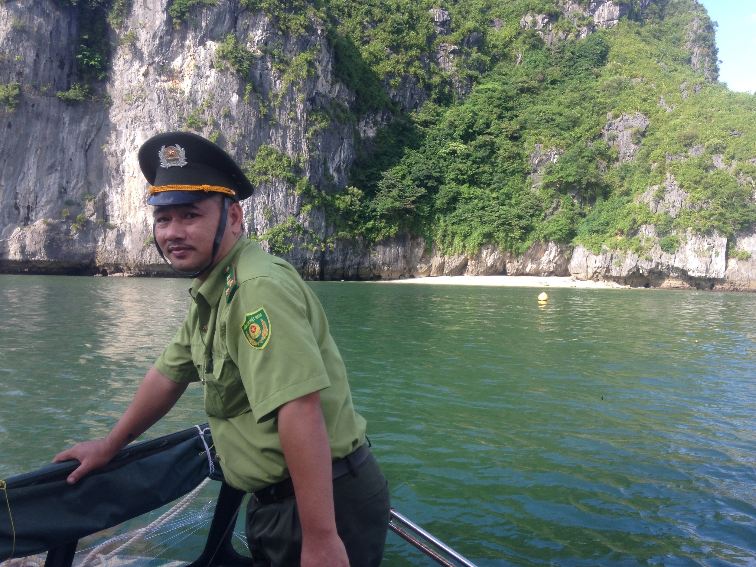 Being checked in on by the police in Ha Long Bay