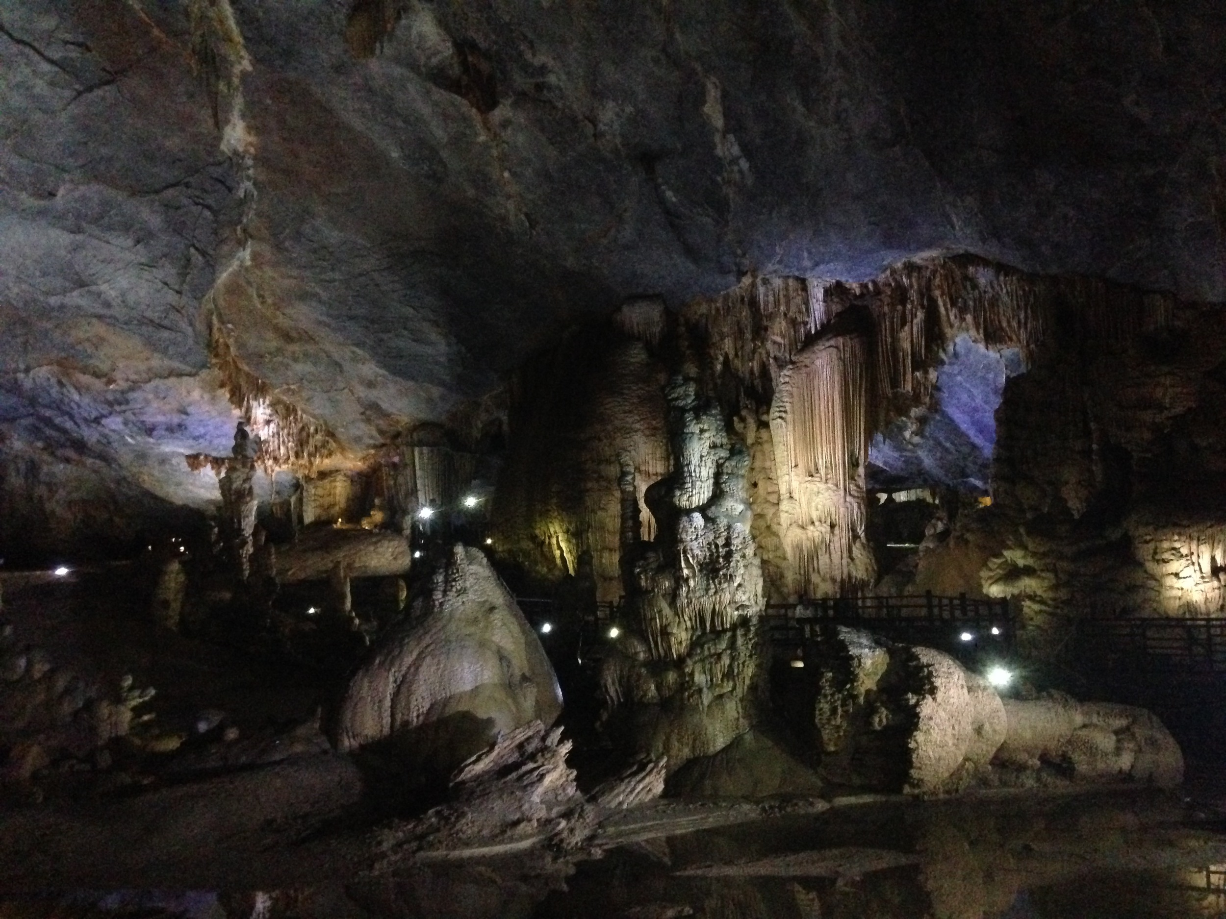 Inside Paradise Cave in Quan Bing